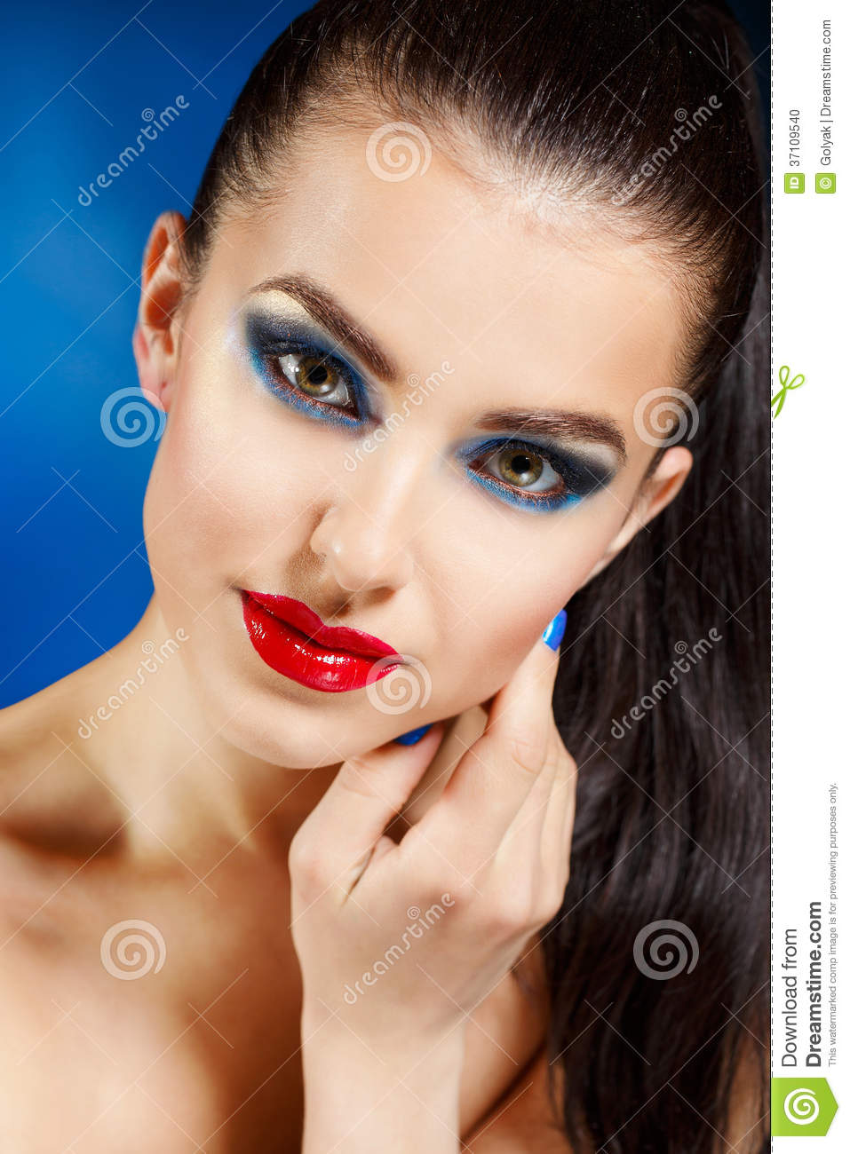 Beauty Vogue Style Fashion Model Girl Stock Photo Image