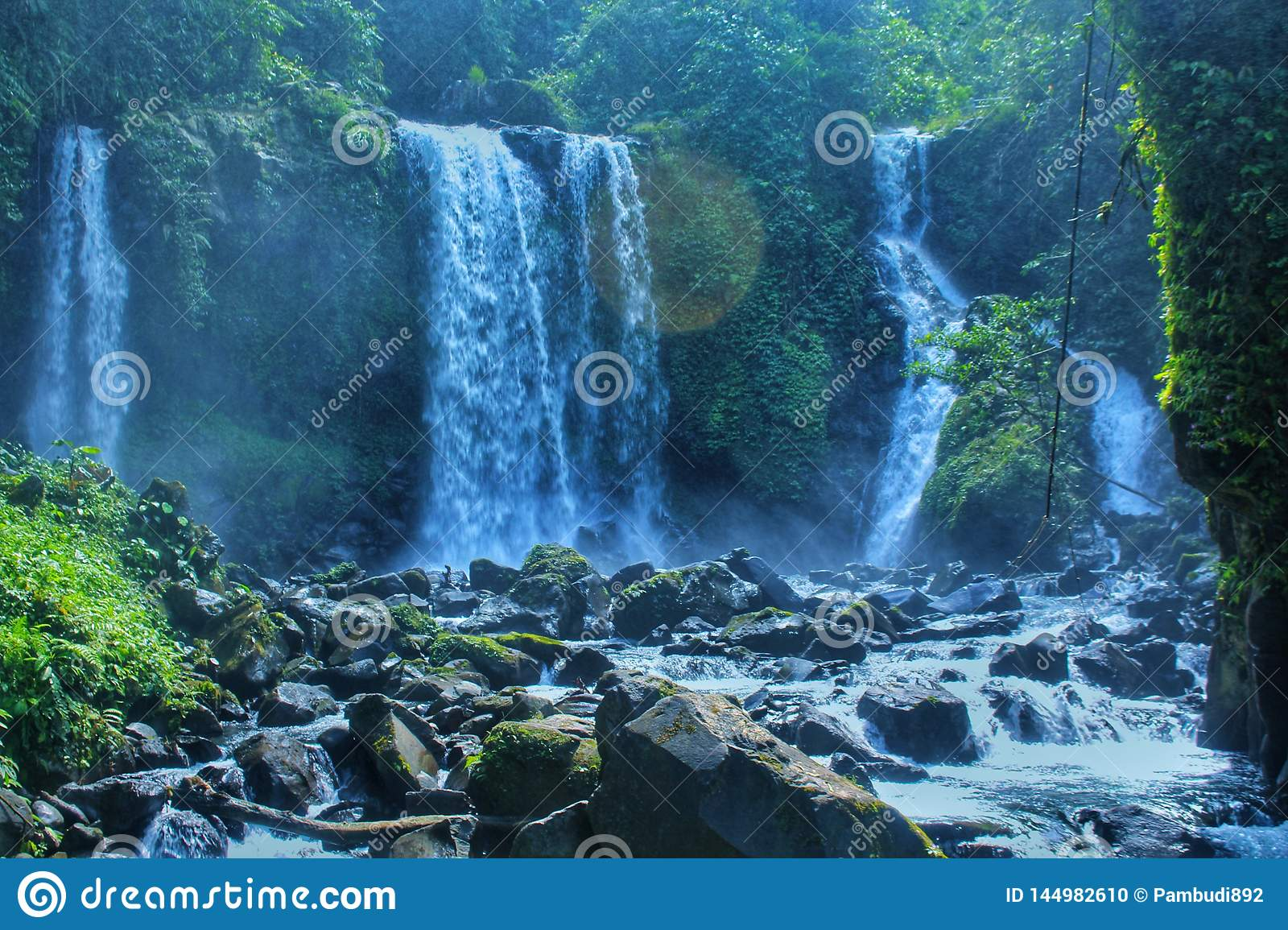 The beauty of the waterfalls