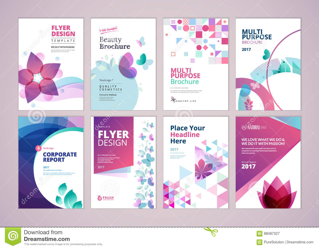 Beauty And Wellness Products Brochure Cover Design And Flyer Layout - Wellness flyer templates free