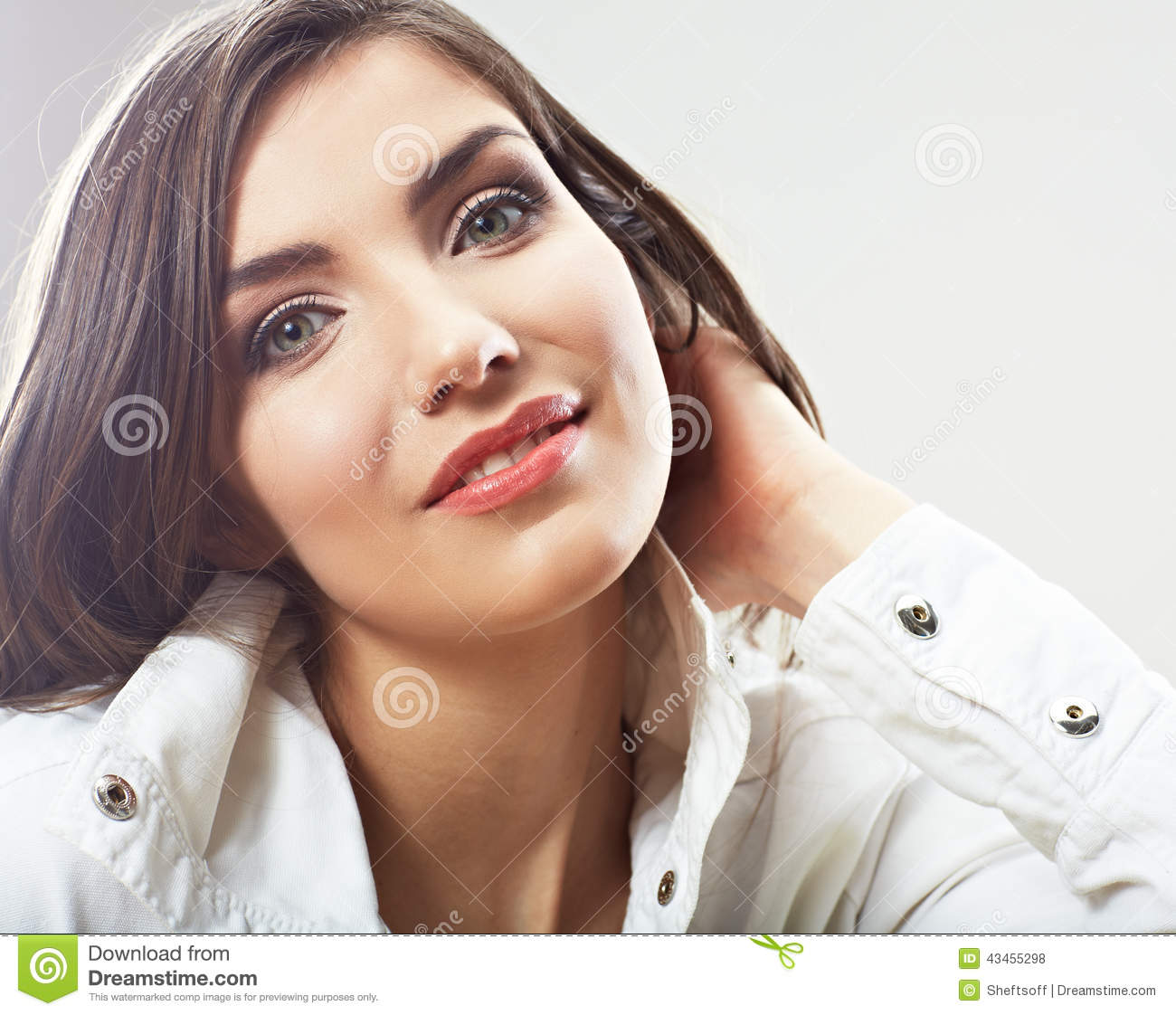 Beauty woman face close up portrait. Young female