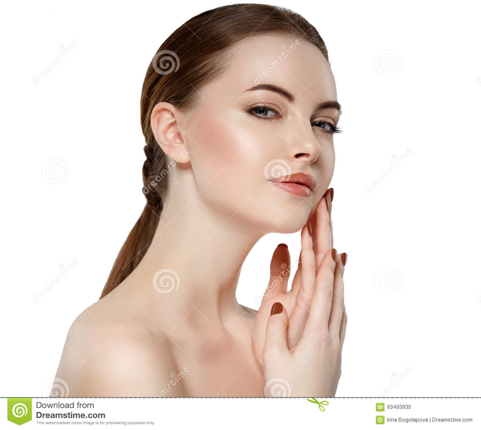 Woman pleasure face