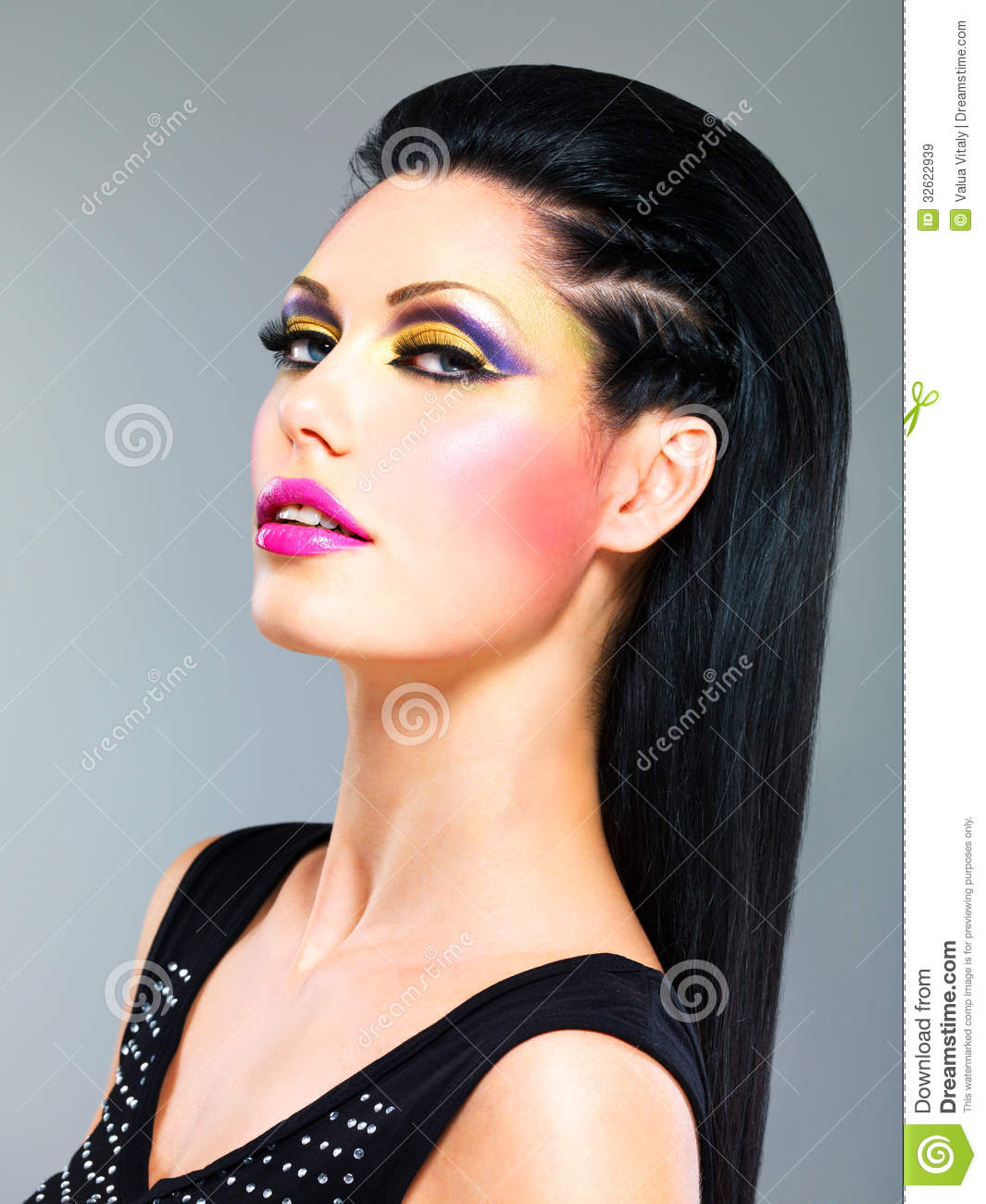 Beauty Woman With Fashion Makeup On Face Stock Image ...