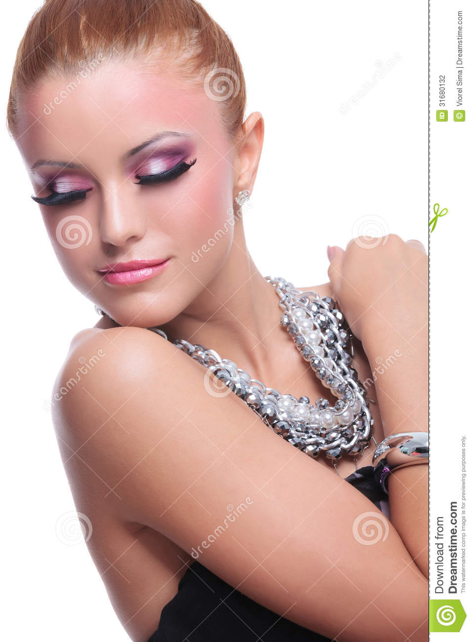 Beauty Woman Looking Over Her Shoulder Stock Photography ...