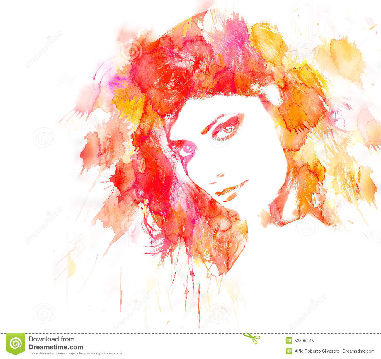 7f4fb9e560 Beauty Woman portrait. stock illustration. Illustration of spring ...