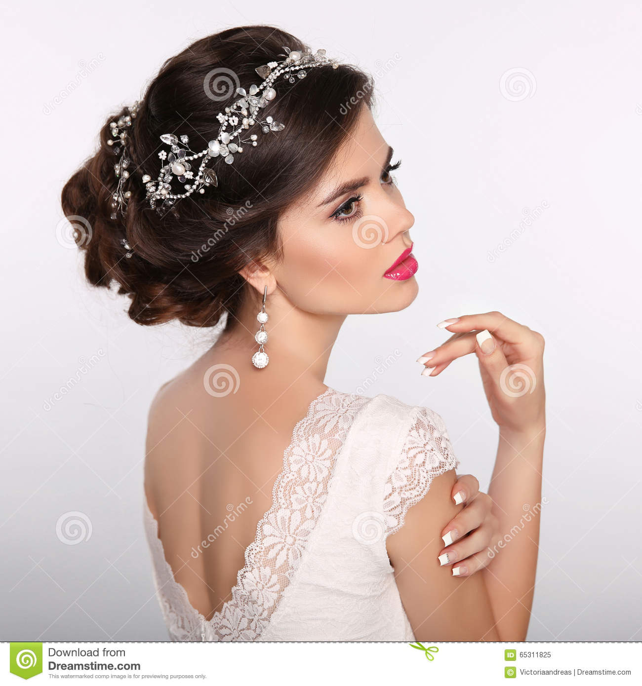 Beauty Woman Portrait Wedding Hairstyle Beautiful Fashion Brid - Wedding hairstyle download