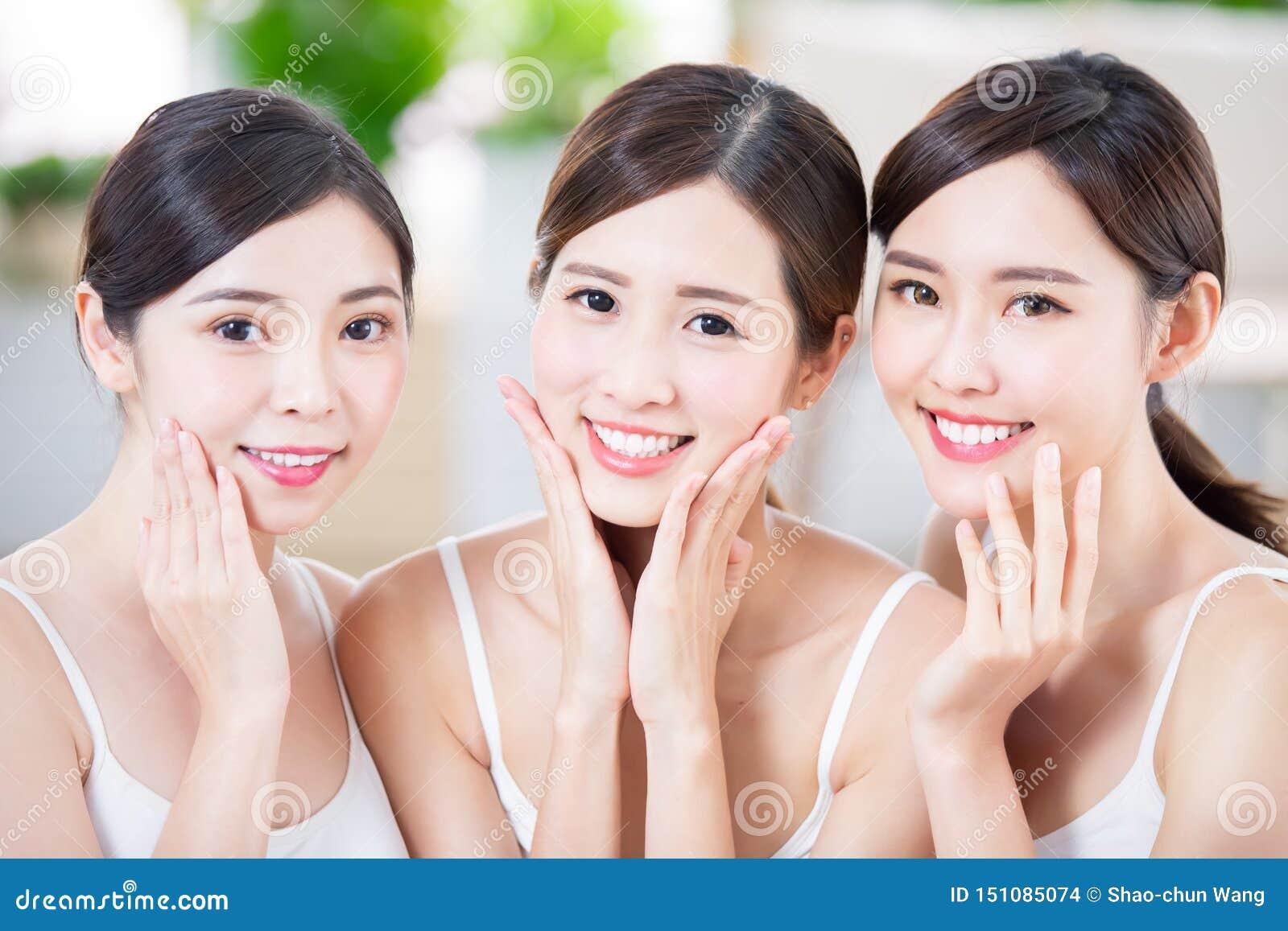 Beauty women smile happily