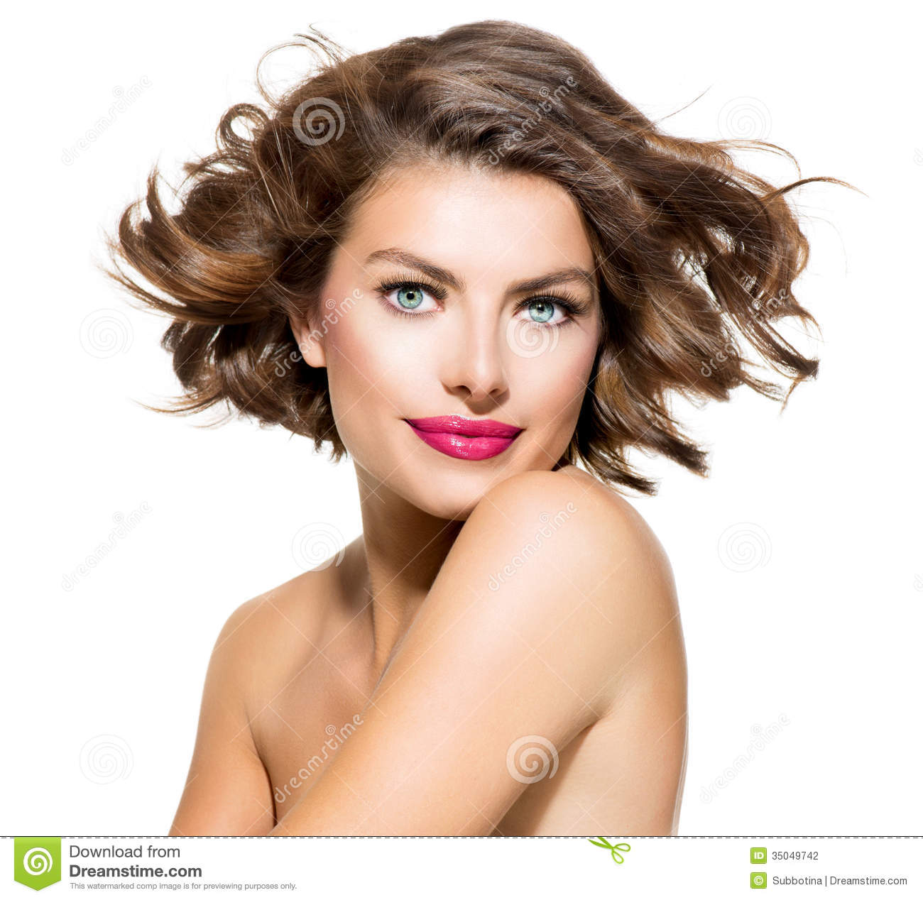 Beauty Young Woman Portrait Stock Photography - Image: 35049742