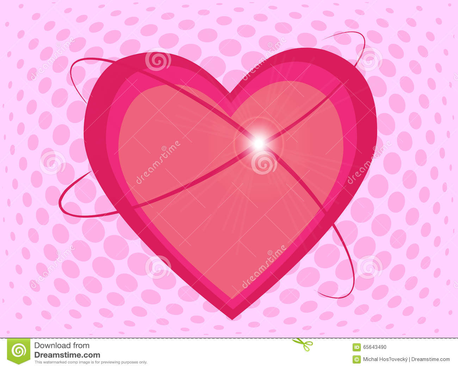 Beaux coeurs roses avec l éclat sur le fond tramé d effet