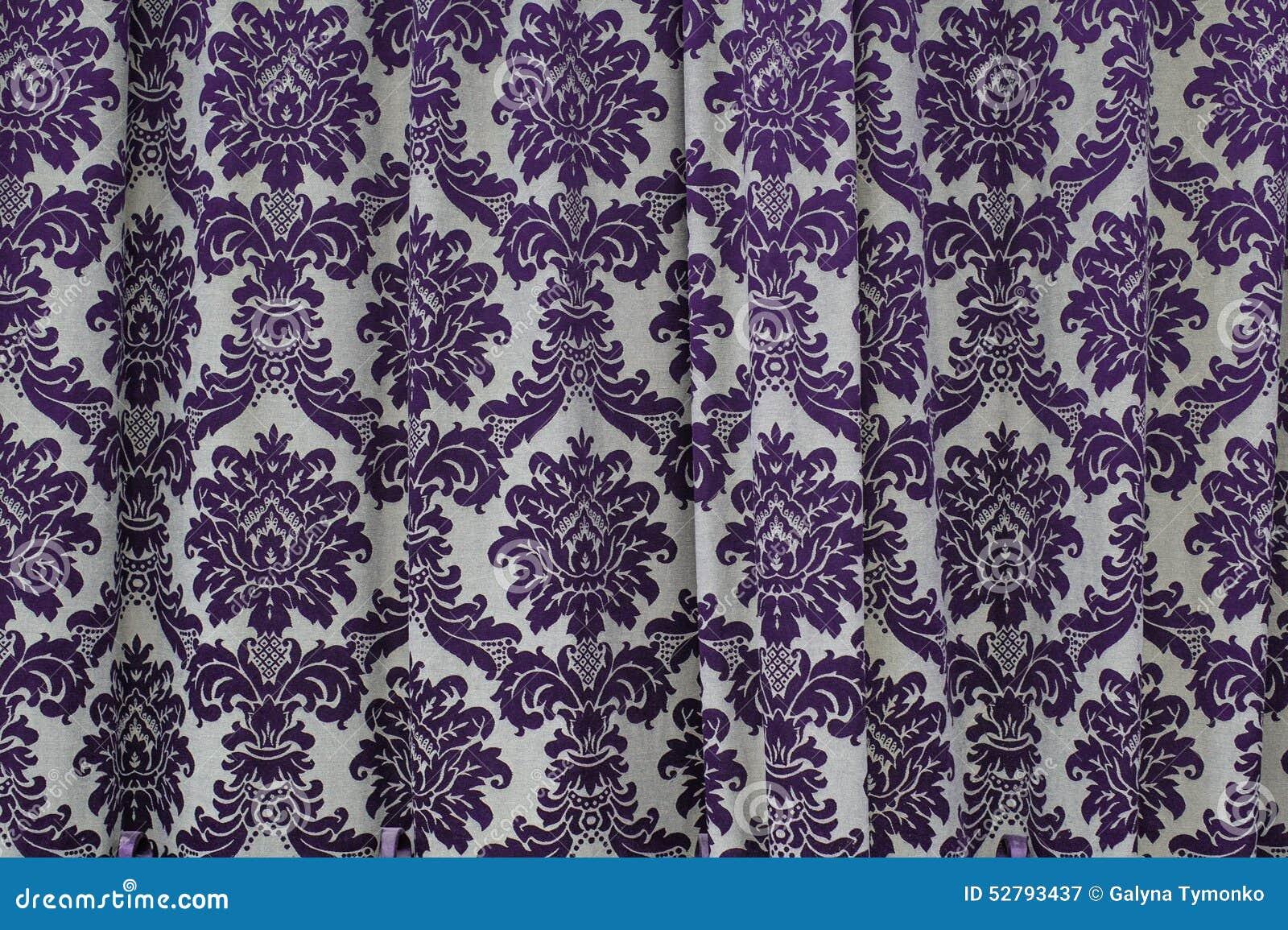 beaux rideaux en texture de tissu avec le mod le de vintage photo stock image 52793437. Black Bedroom Furniture Sets. Home Design Ideas