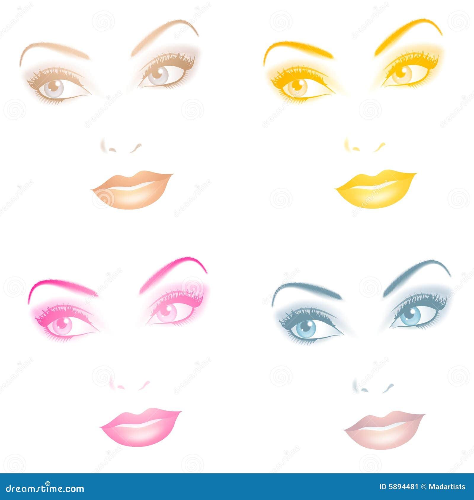 Beaux visages femelles opaques