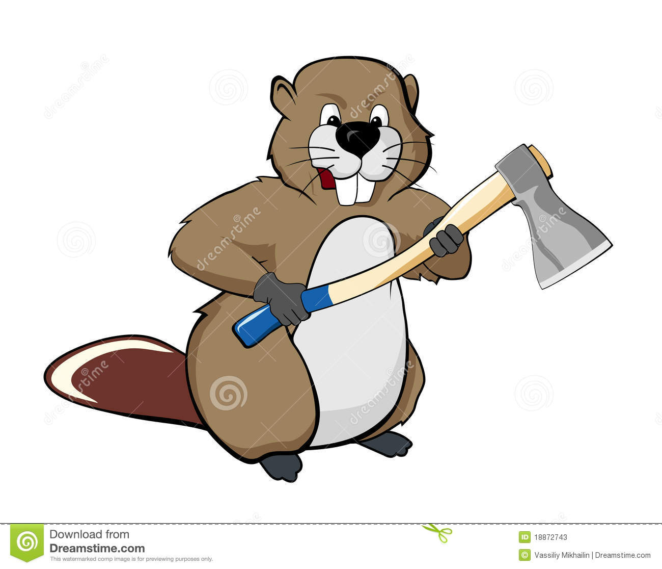 beaver with an ax stock photos image 18872743 Wood Chuck woodchuck clipart black and white