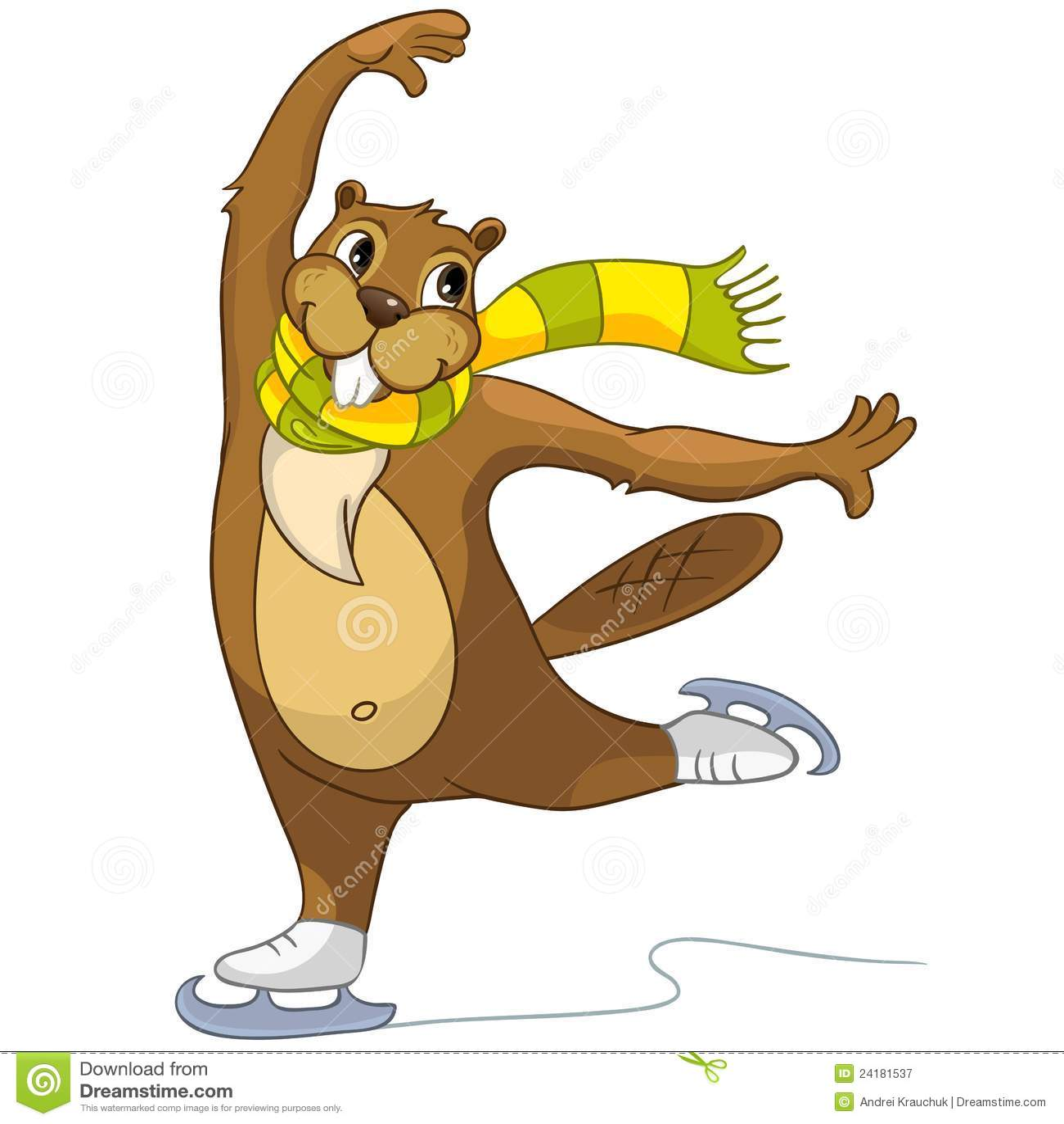 Beaver CREES stock vector. Illustration of glide, figure - 24181537