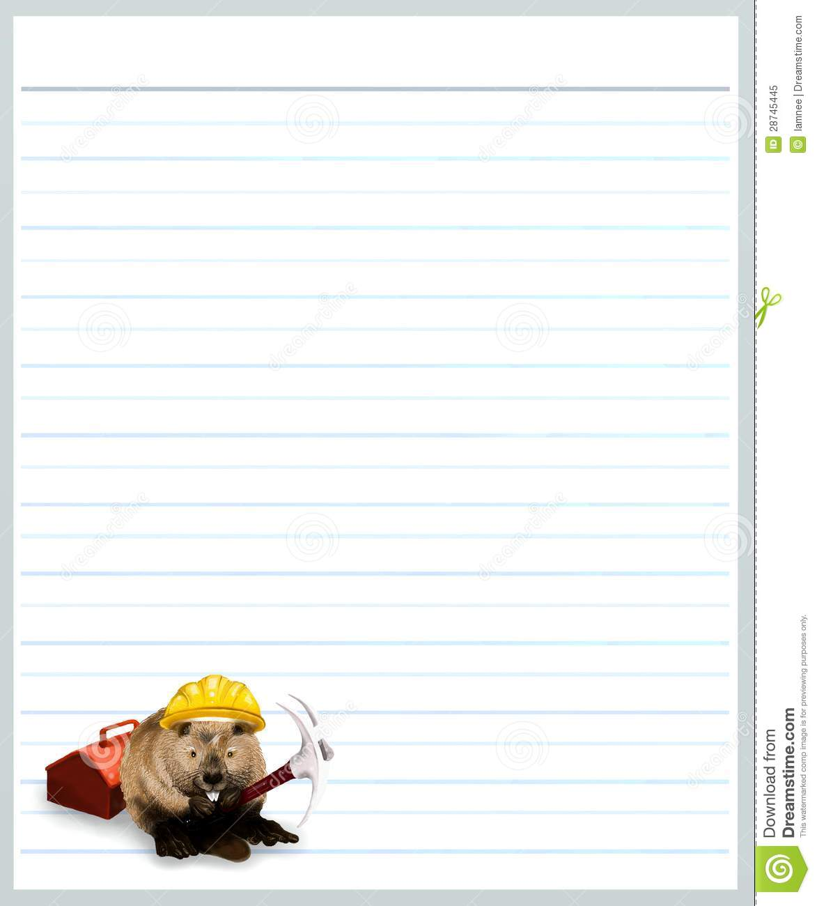 Free Printable Writing Paper with Decorated Borders