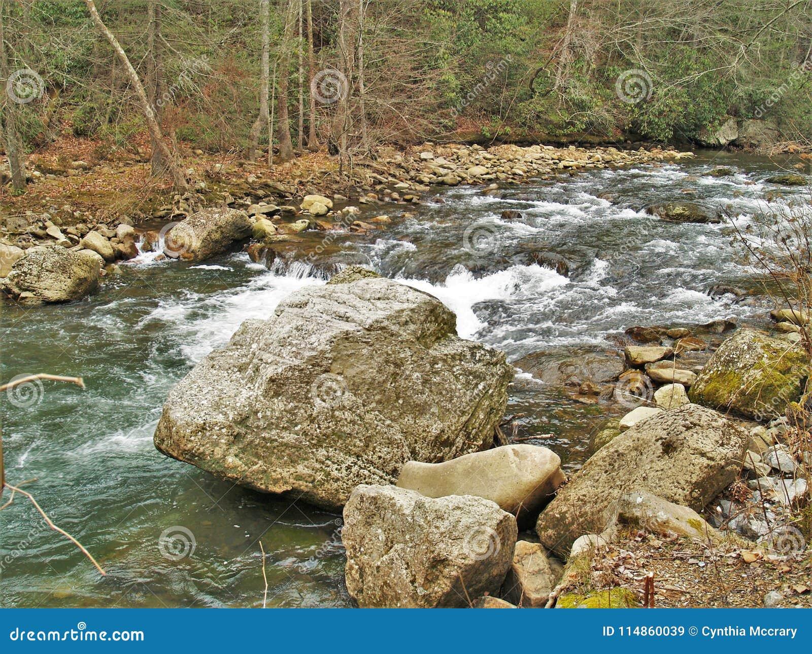 Beaverdam Creek At Backbone Rock Stock Image - Image of boulders