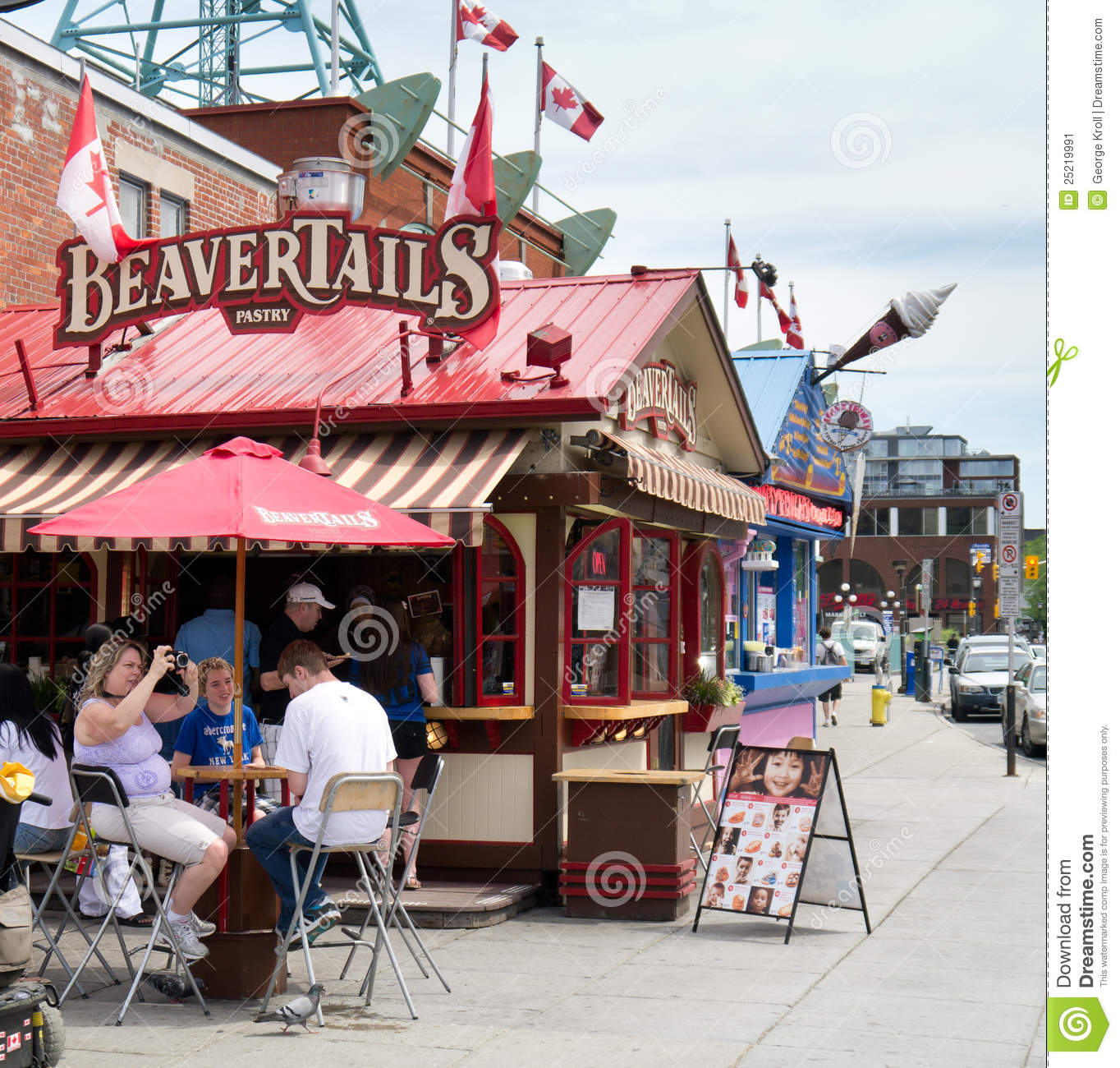 beavertails stand in ottawa ontario canada editorial photo image