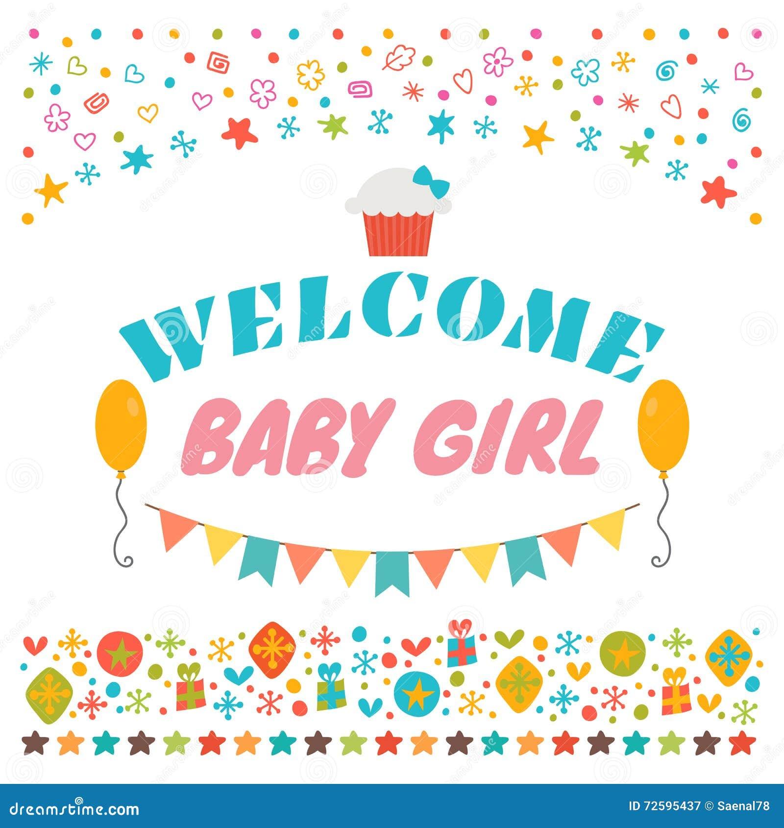 Quotes For Welcome Baby: Bebé Agradable Tarjeta Del Aviso Tarjeta De Felicitación