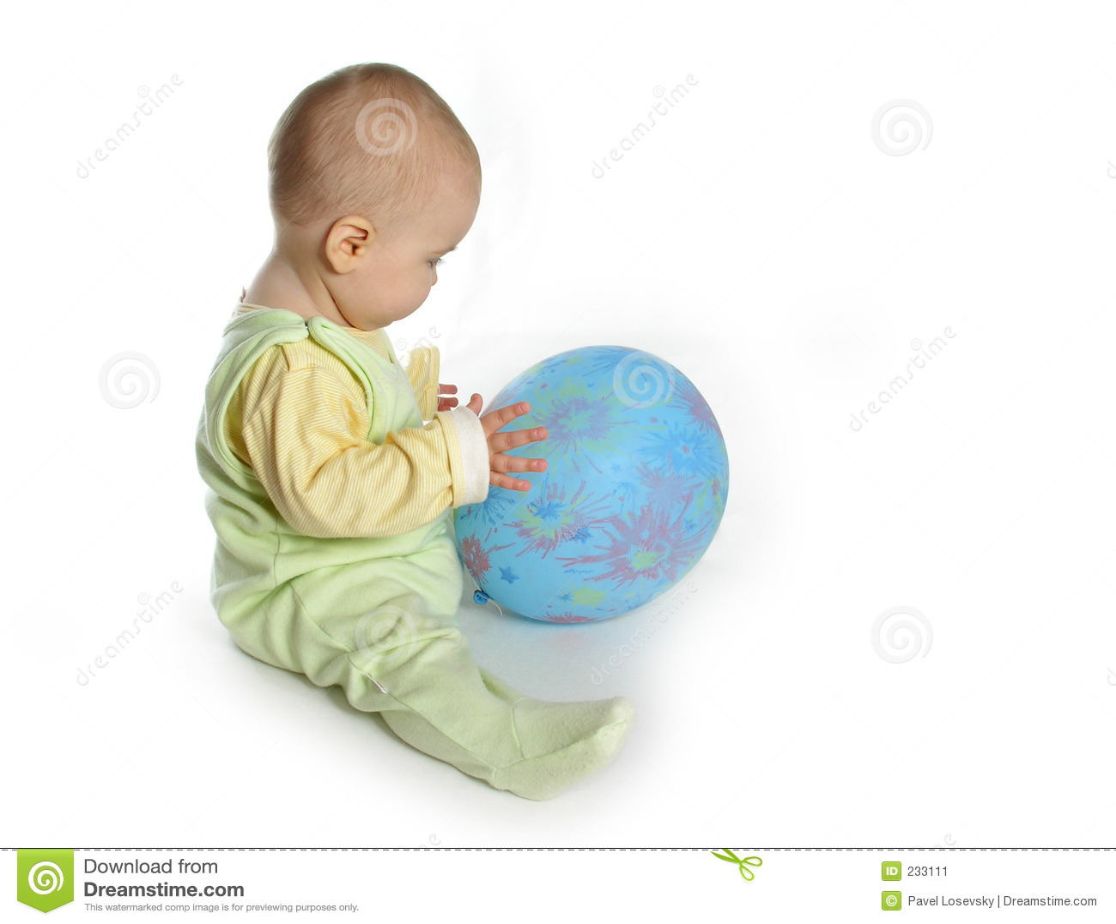 Bebé con el globo