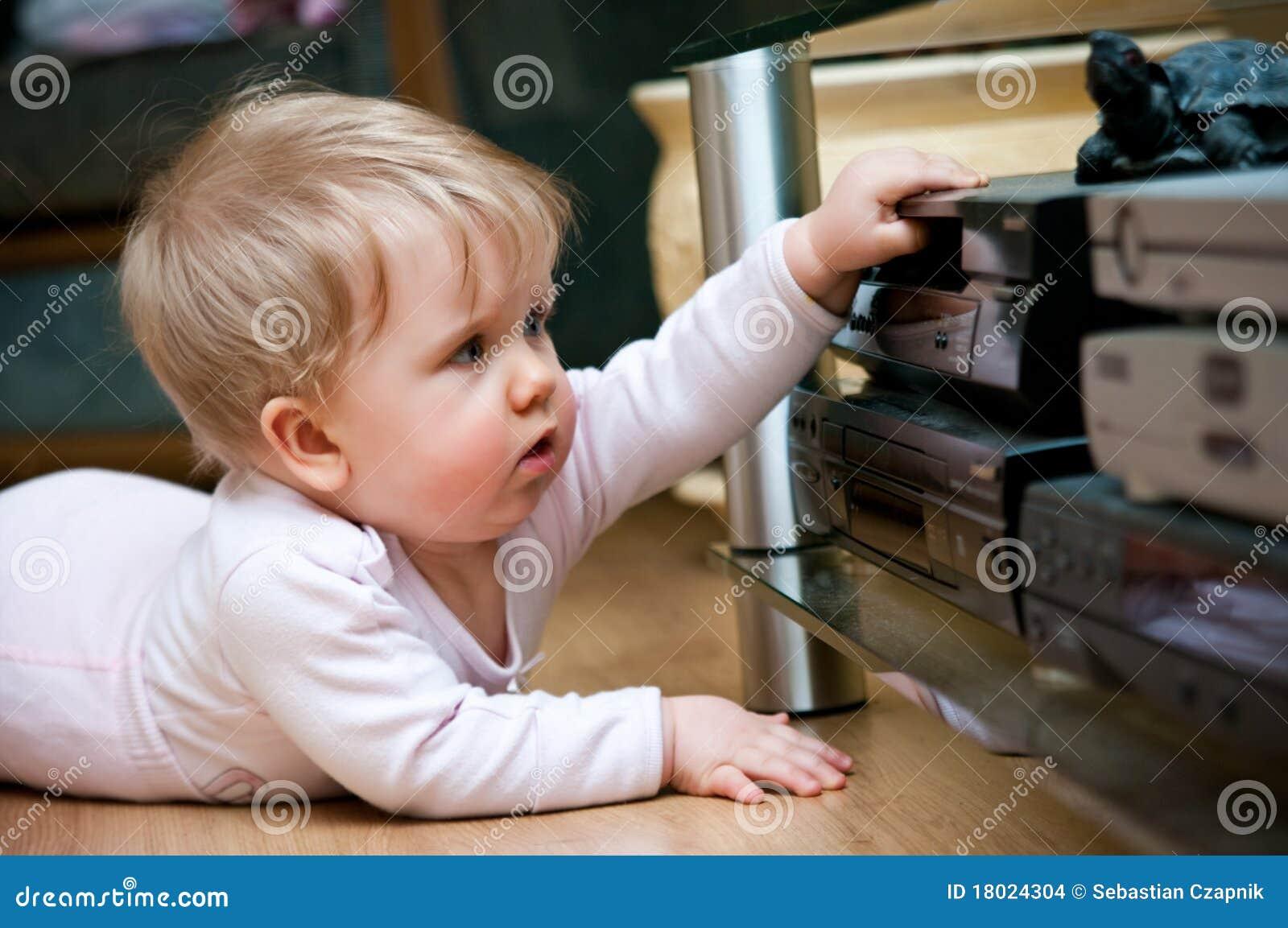 Bebé con el vídeo casero
