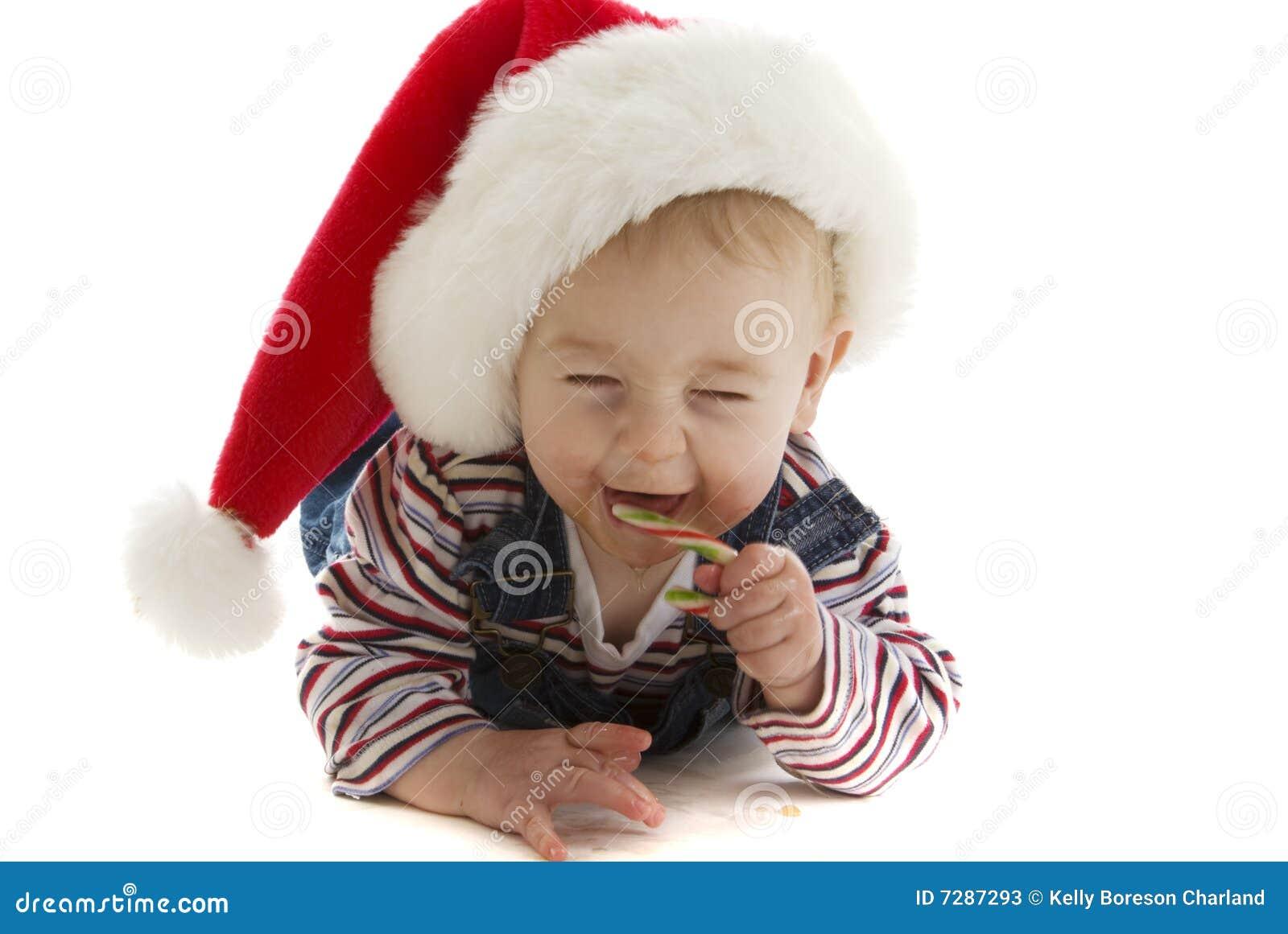Bebé de risa de Santa