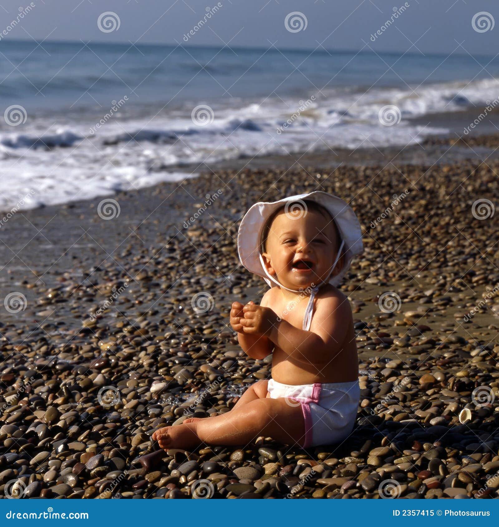 Bebé en la playa