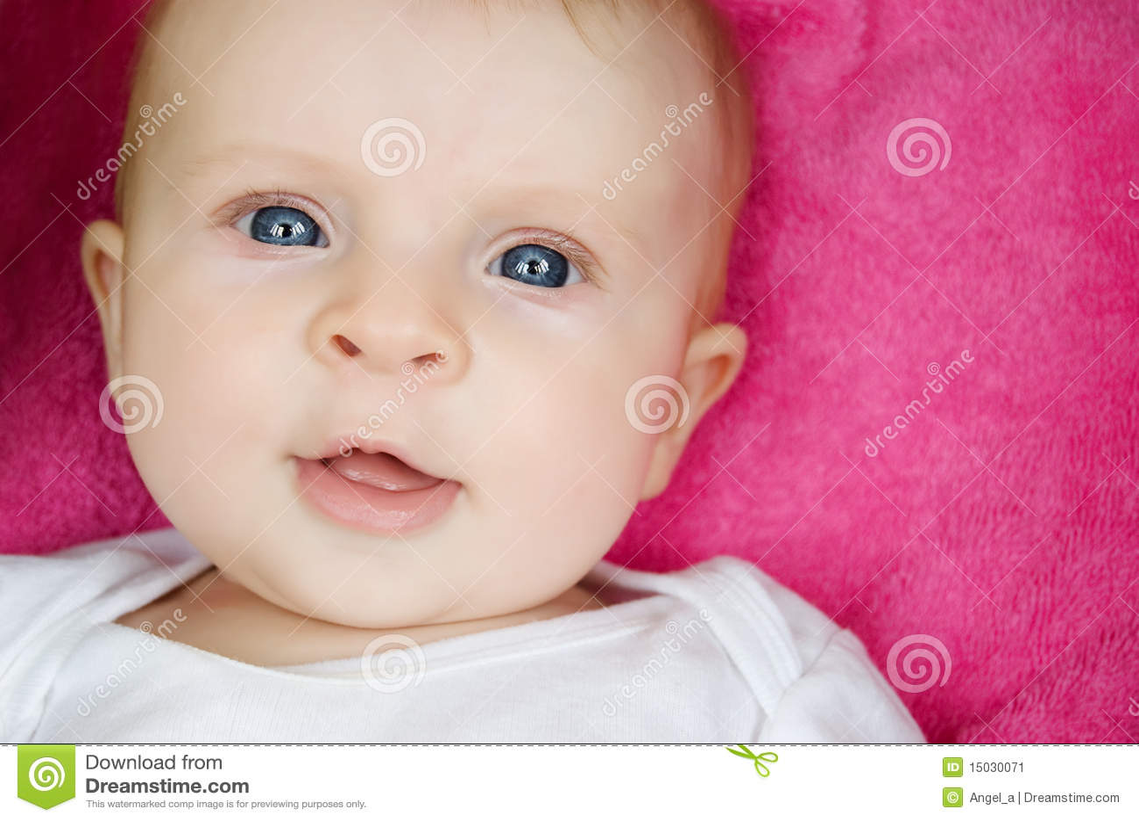 Bebé eyed azul