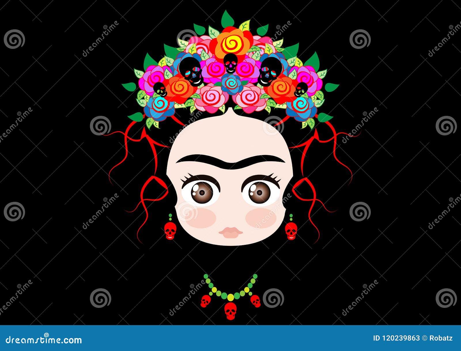 Frida Calo Para Colorear Dibujos Para Colorear