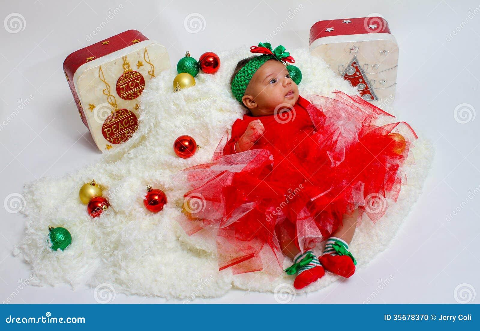 7d8ee4a4f Bebé Hermoso Vestido Para Los Días De Fiesta De La Navidad Foto de ...
