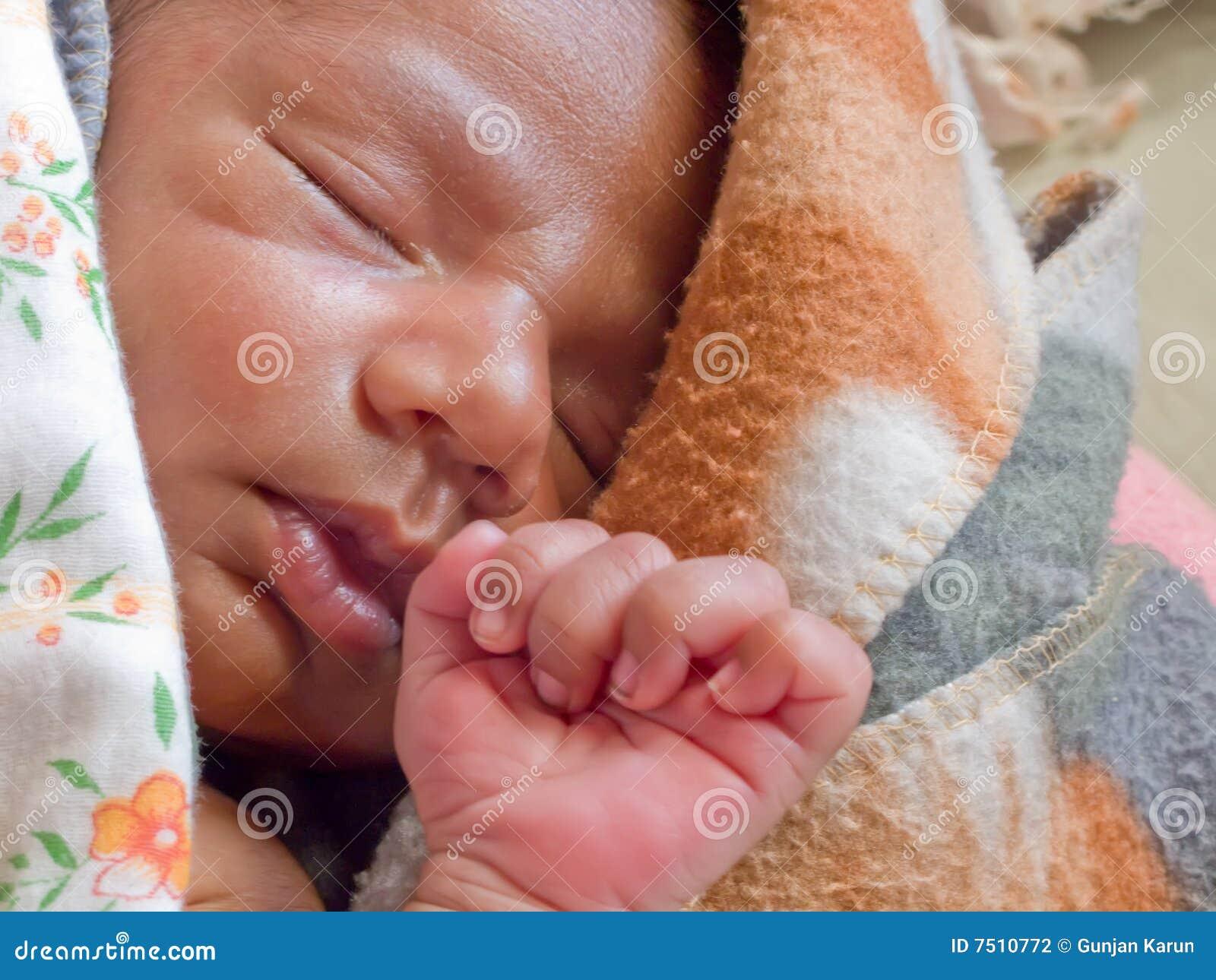 Bebé pacífico durmiente