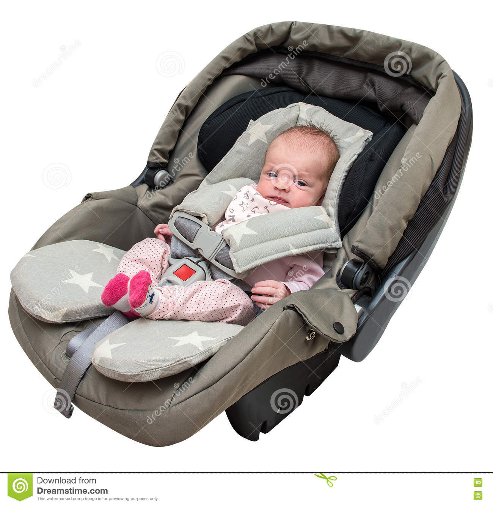 e38a52378 Bebé Recién Nacido En Un Asiento De Carro Foto de archivo - Imagen ...