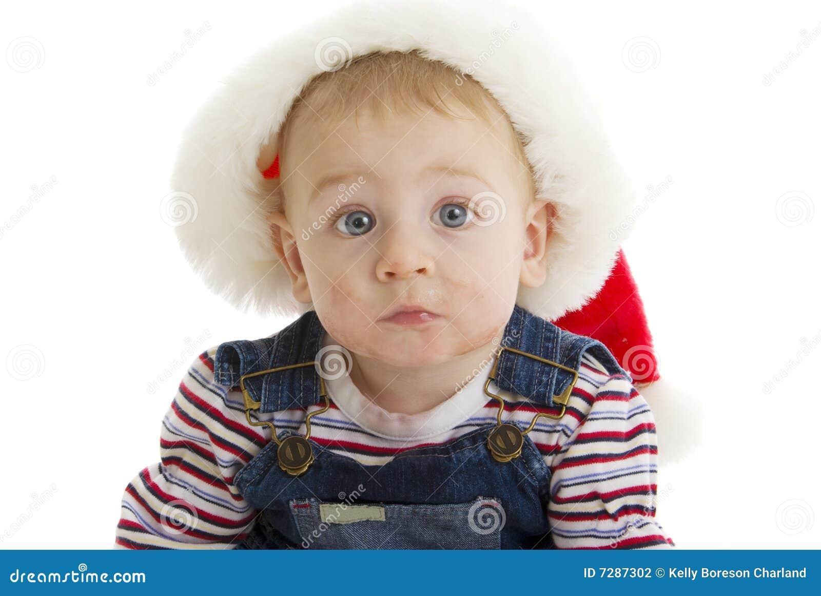 Bebé serio de Santa