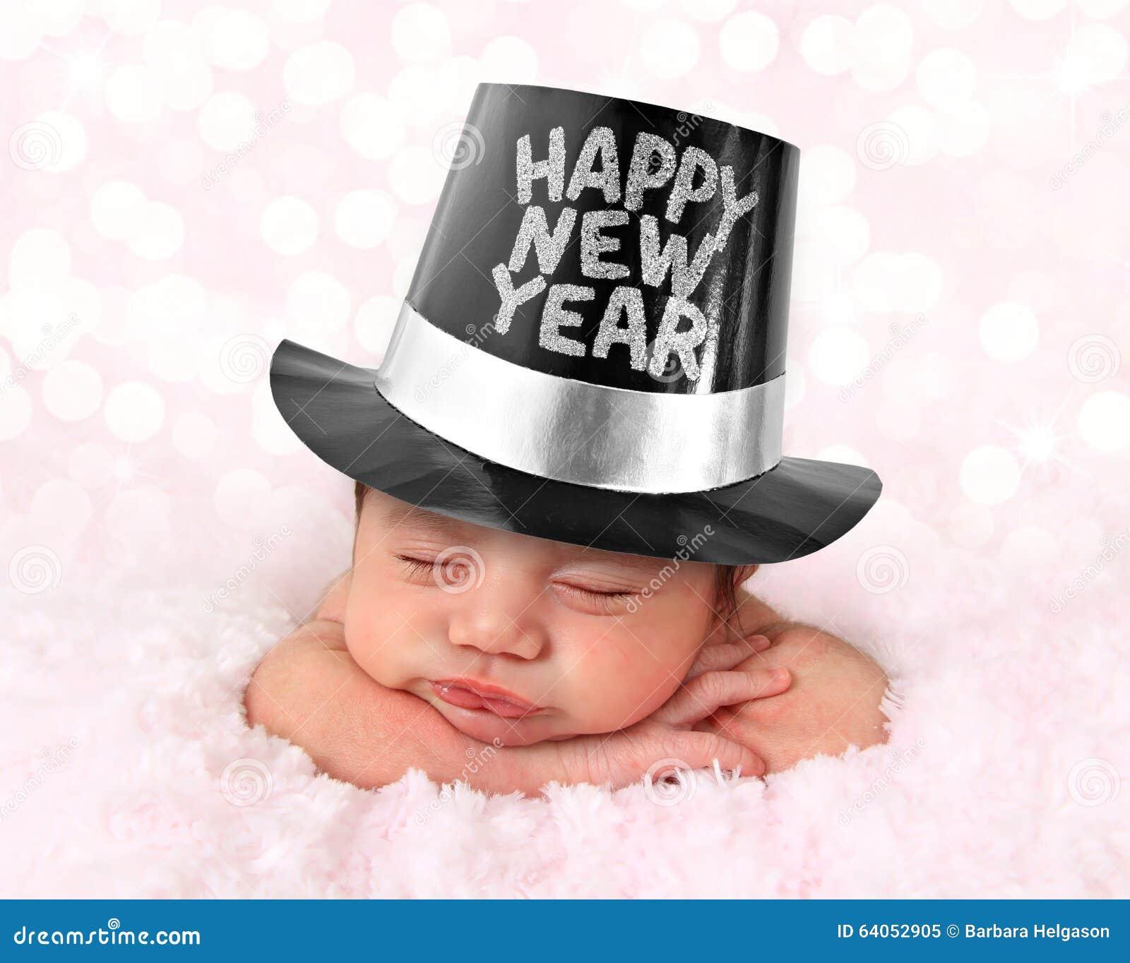 Bebê do ano novo feliz