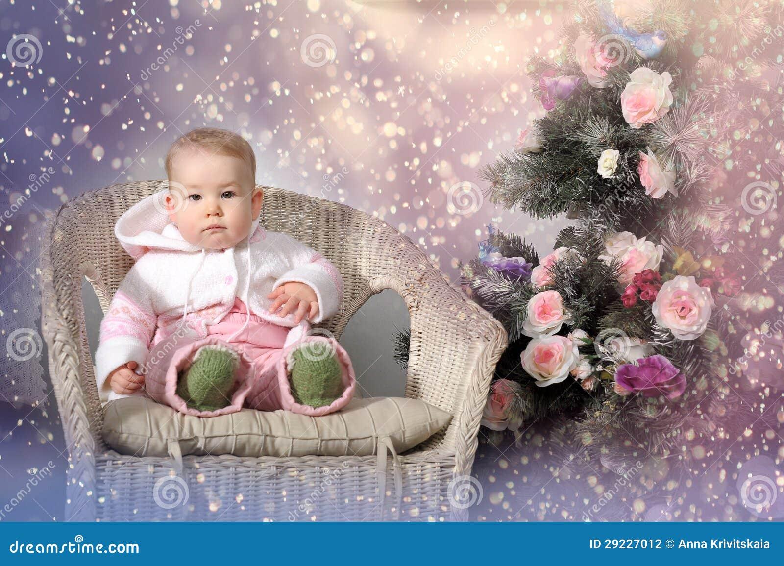 Download Bebê do Natal foto de stock. Imagem de bebê, felicidade - 29227012