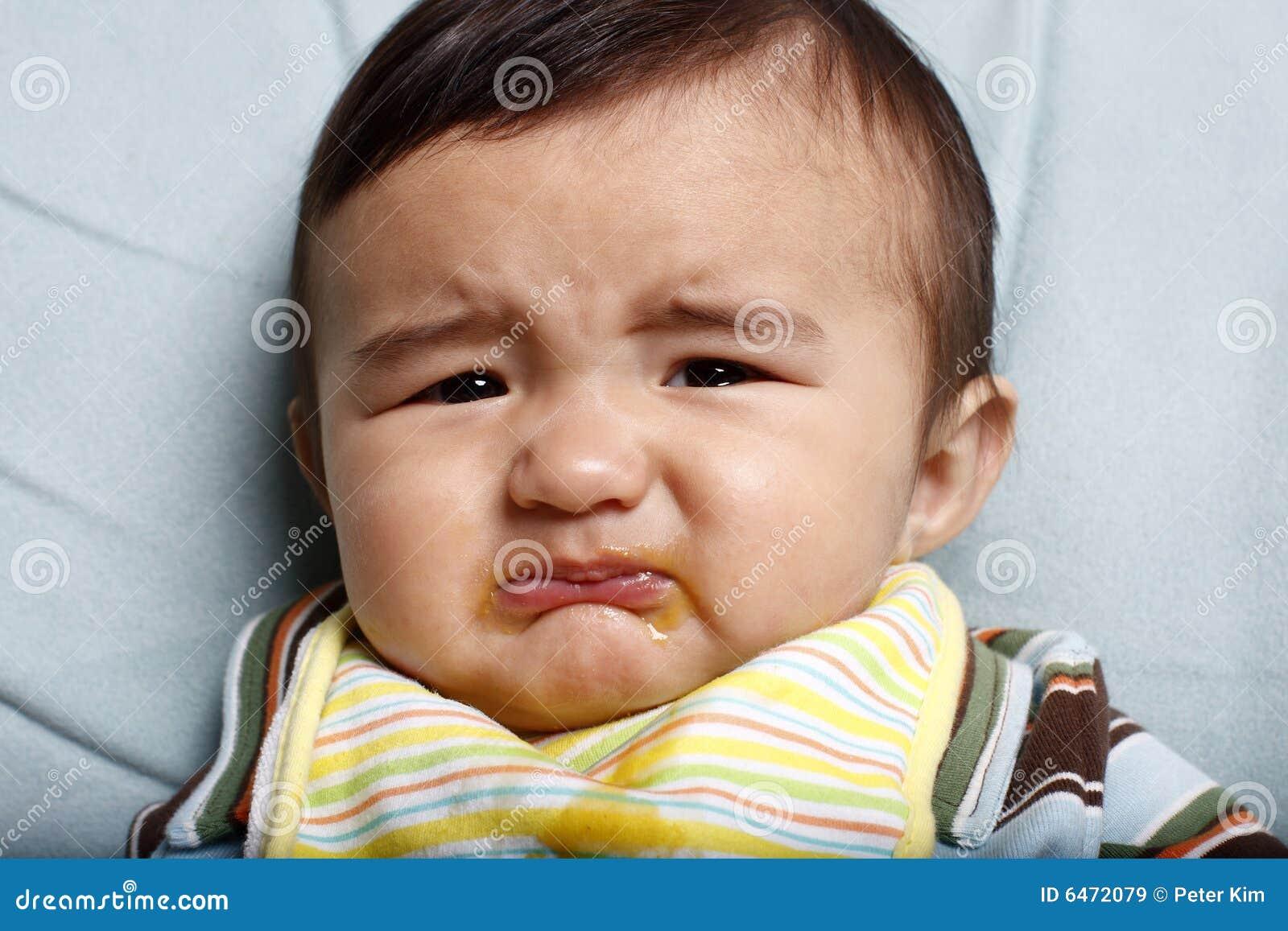 Bebê infeliz