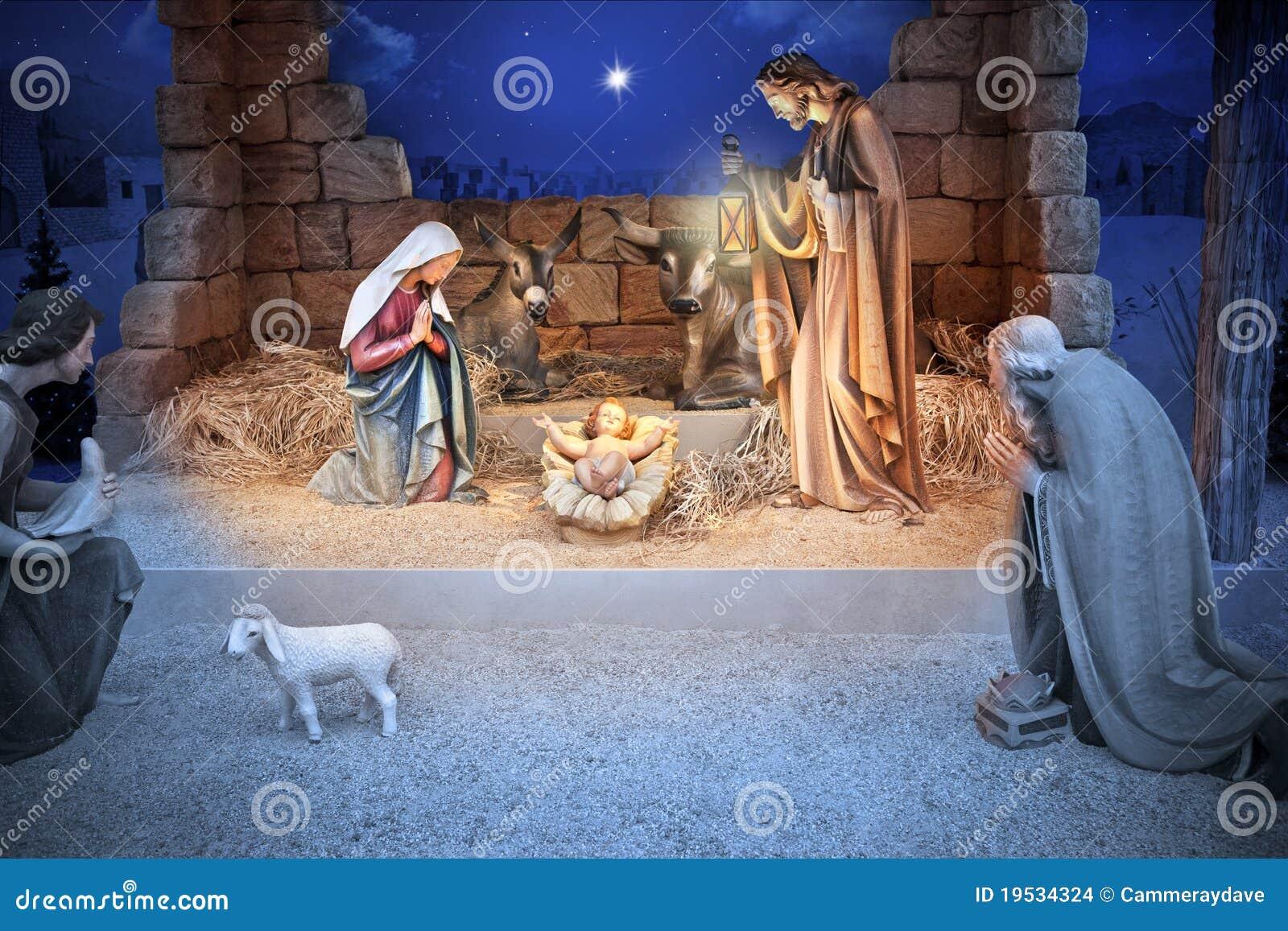 Bebê Jesus da natividade do Natal
