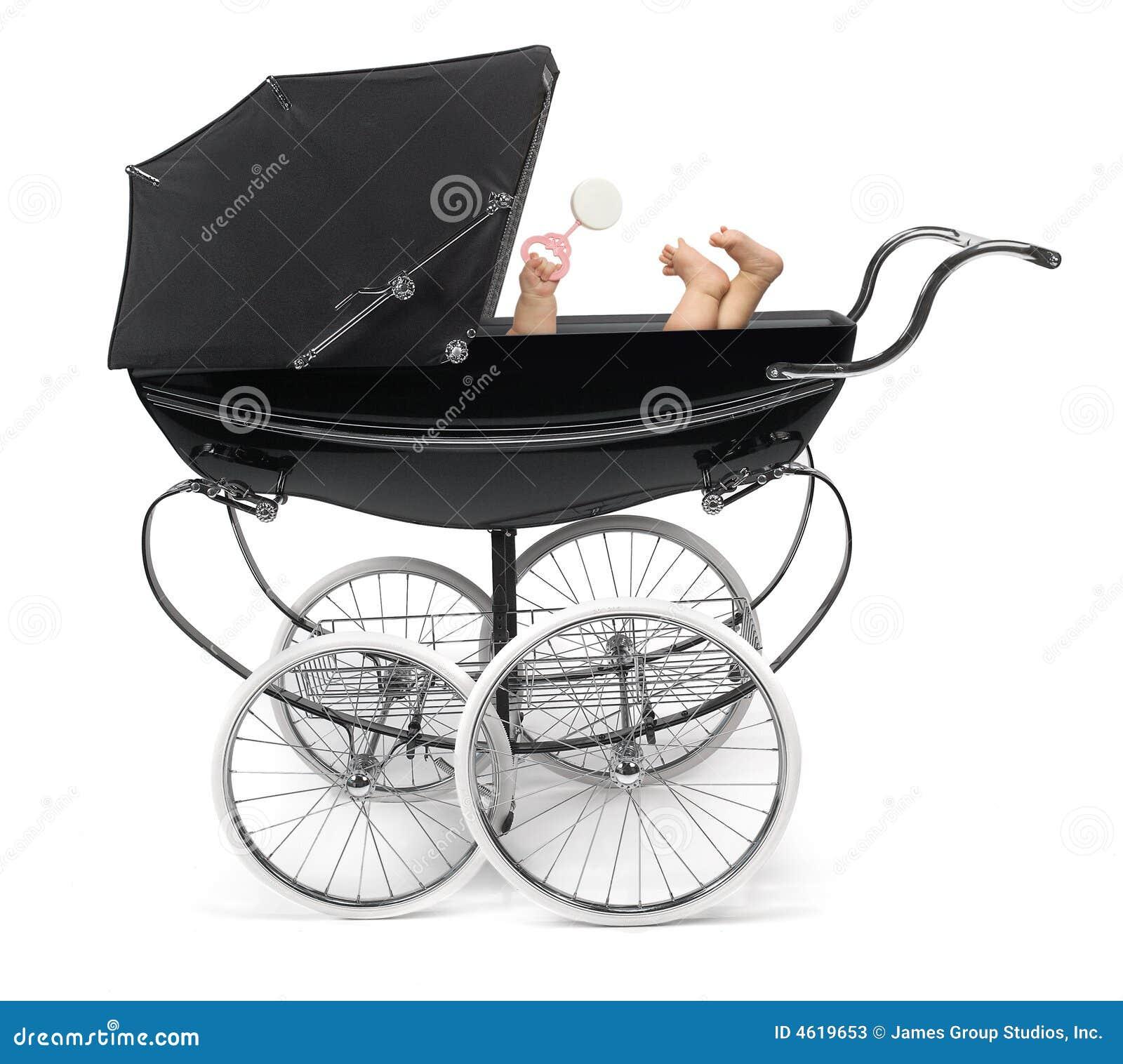 Bebê no carrinho de criança