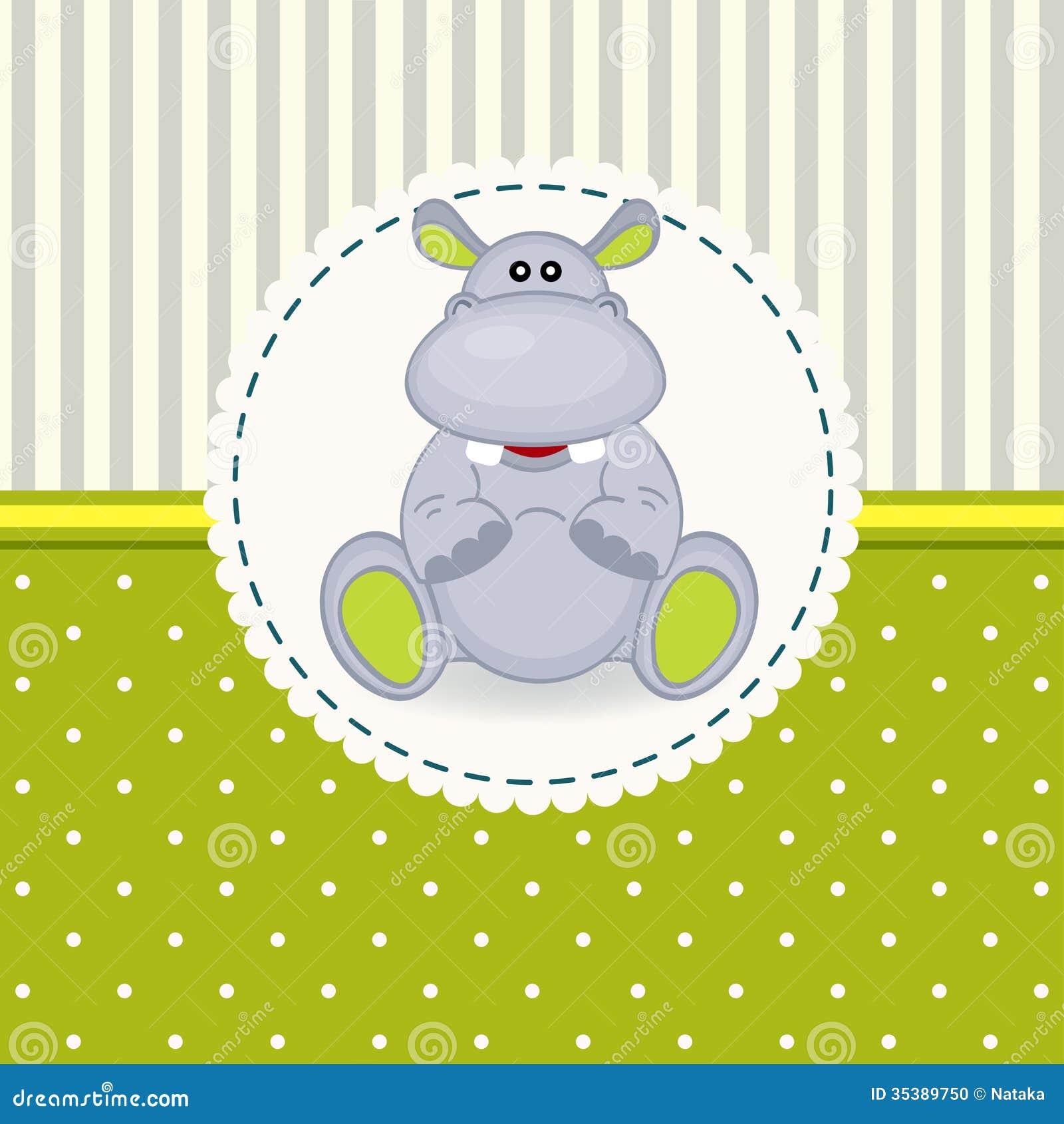 Bebê pequeno do hipopótamo