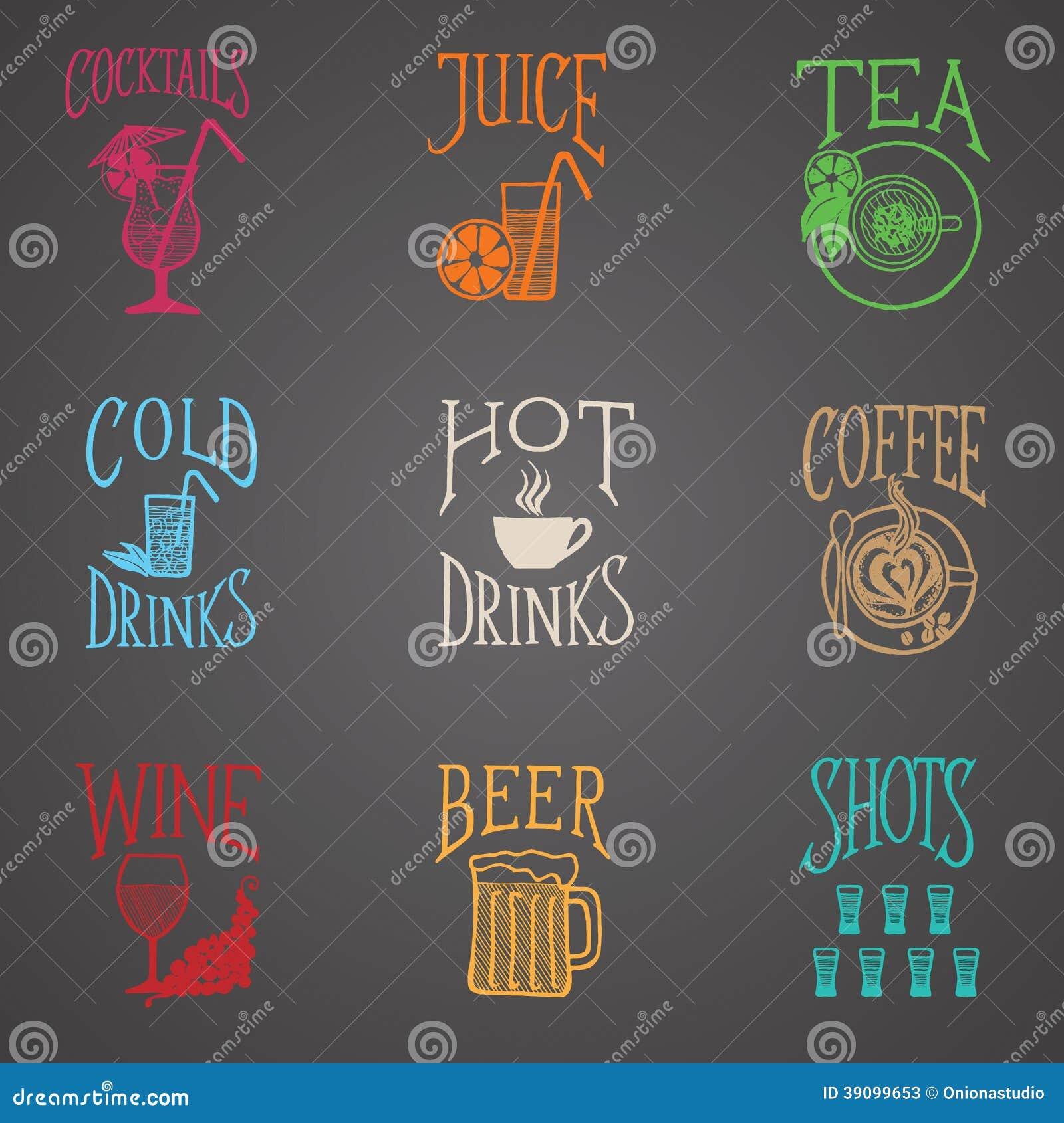 Bebe ícones do menu - estilo do Latino