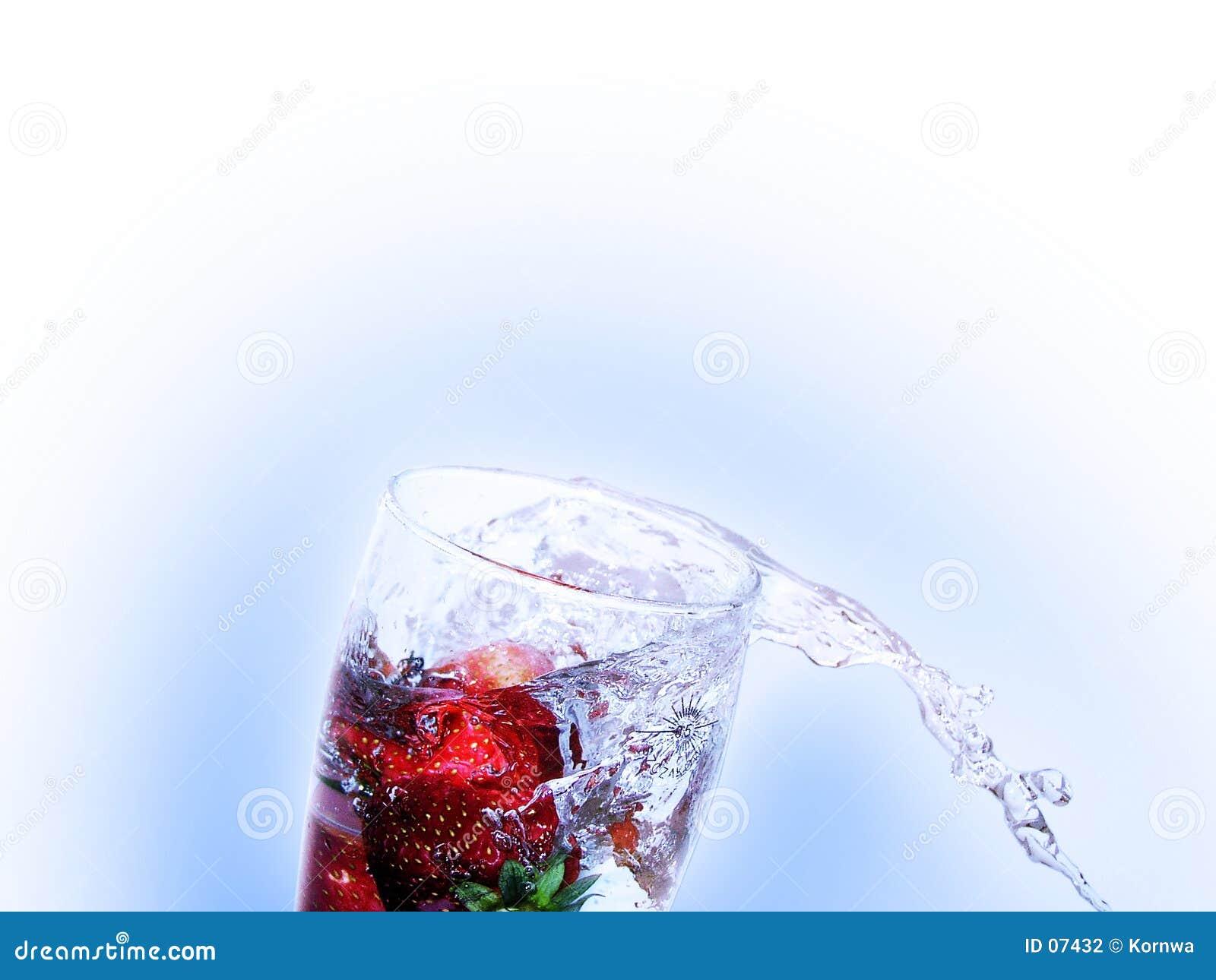 Bebida fresca de la fresa