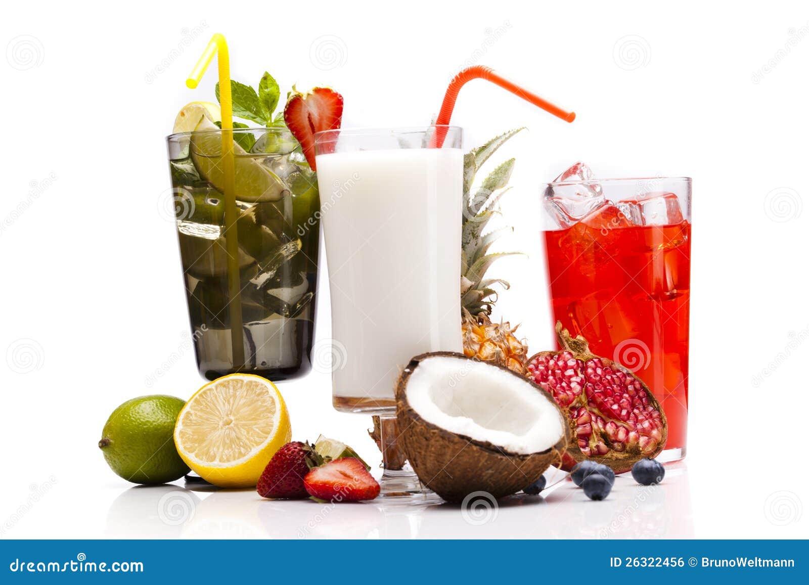 bebidas ex ticas del alcohol fijadas con las frutas imagen