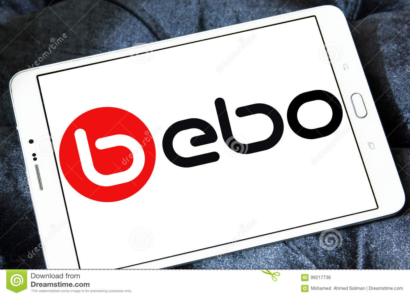 bebo social networking website logo editorial photo image of