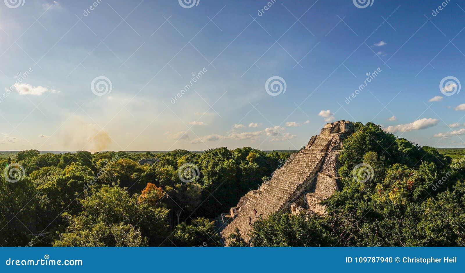 Becan maya temple in the Yucatan, Mexico.