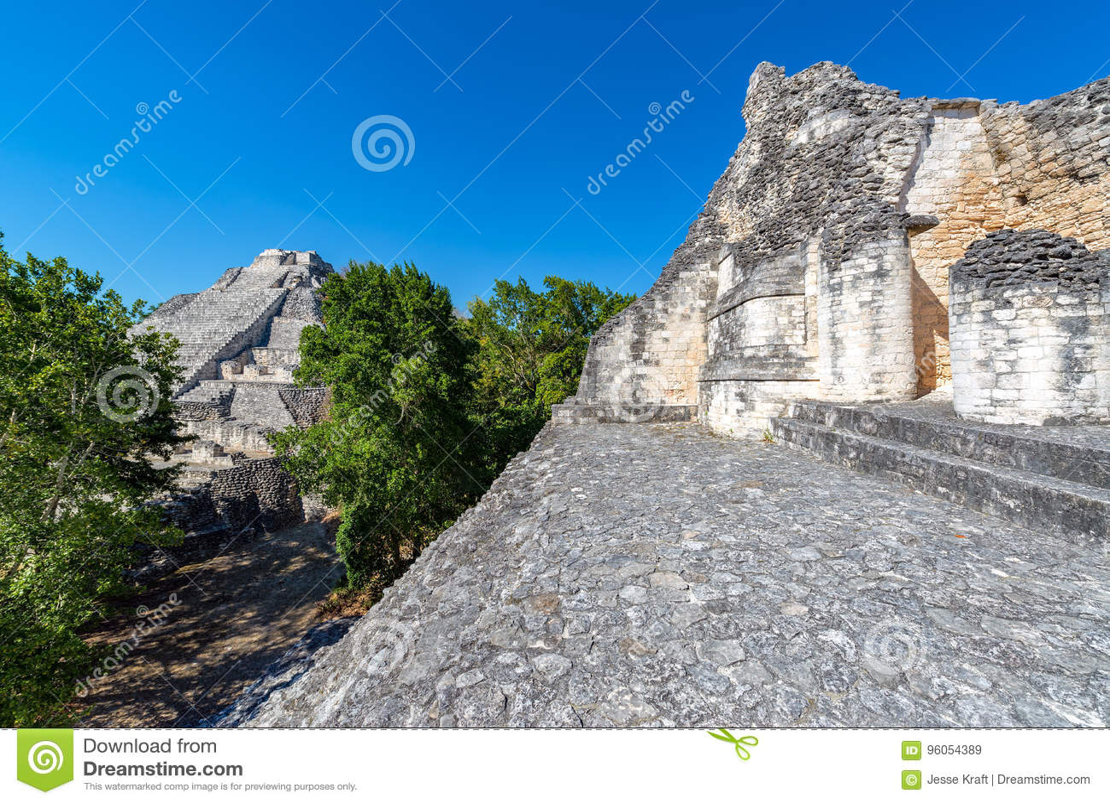 Becan ruine la vue de pyramides