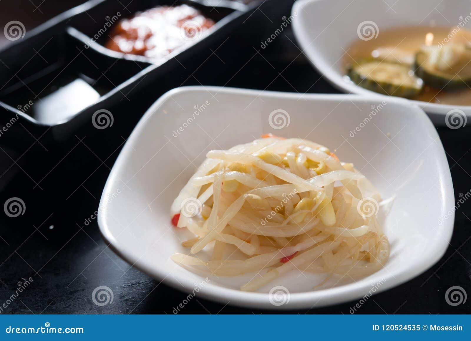 Becco della verdura di Kimchi del Coreano