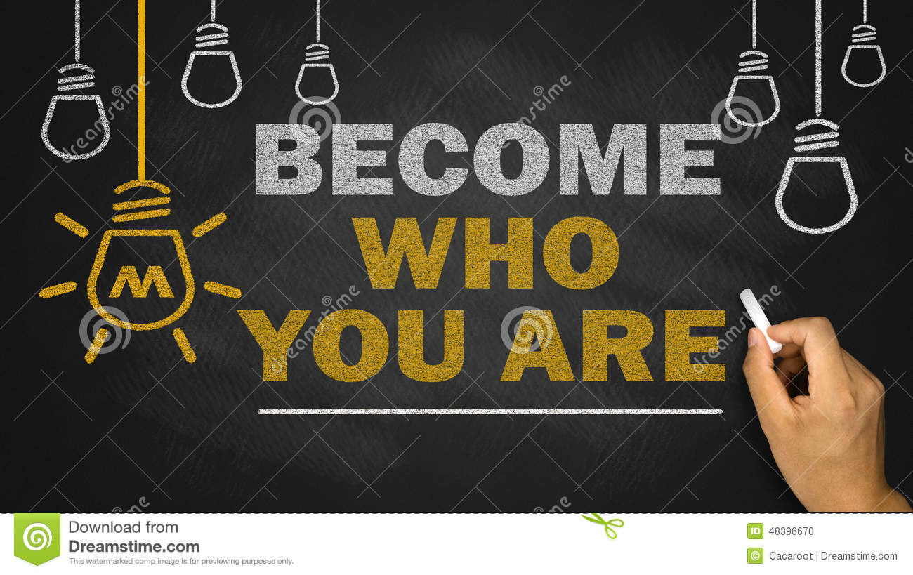 Become who you are vector illustration cartoondealer