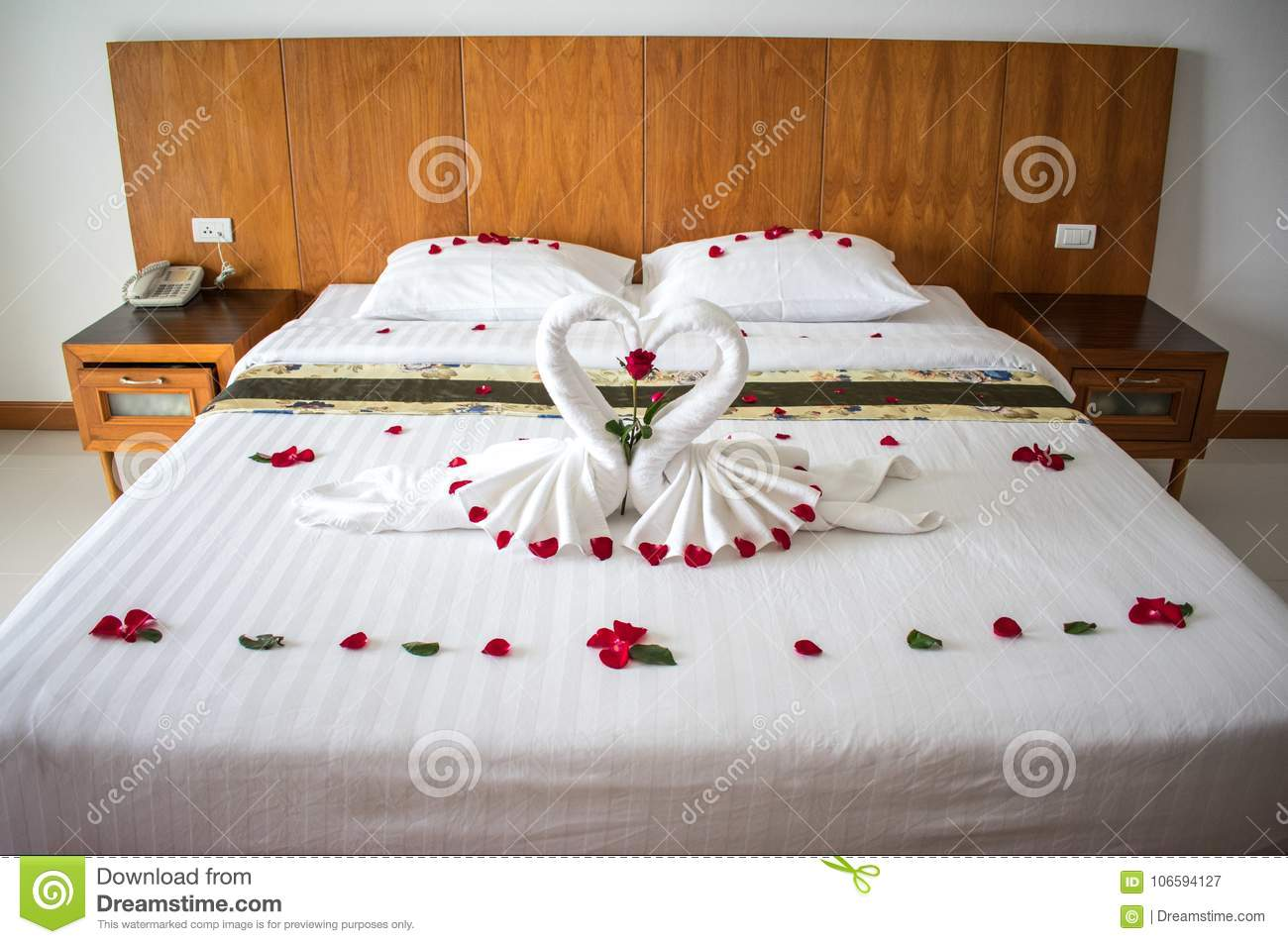 bed in asian hotel room for lovers stock image image of bedroom rh dreamstime com