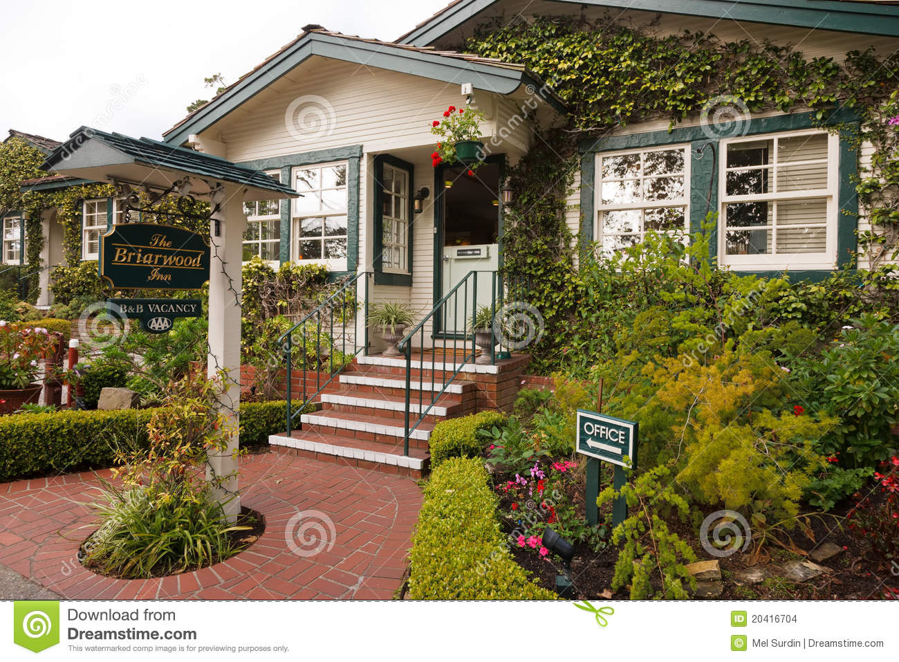 Bed And Breakfast Carmel Editorial Stock Image Image Of Tourist