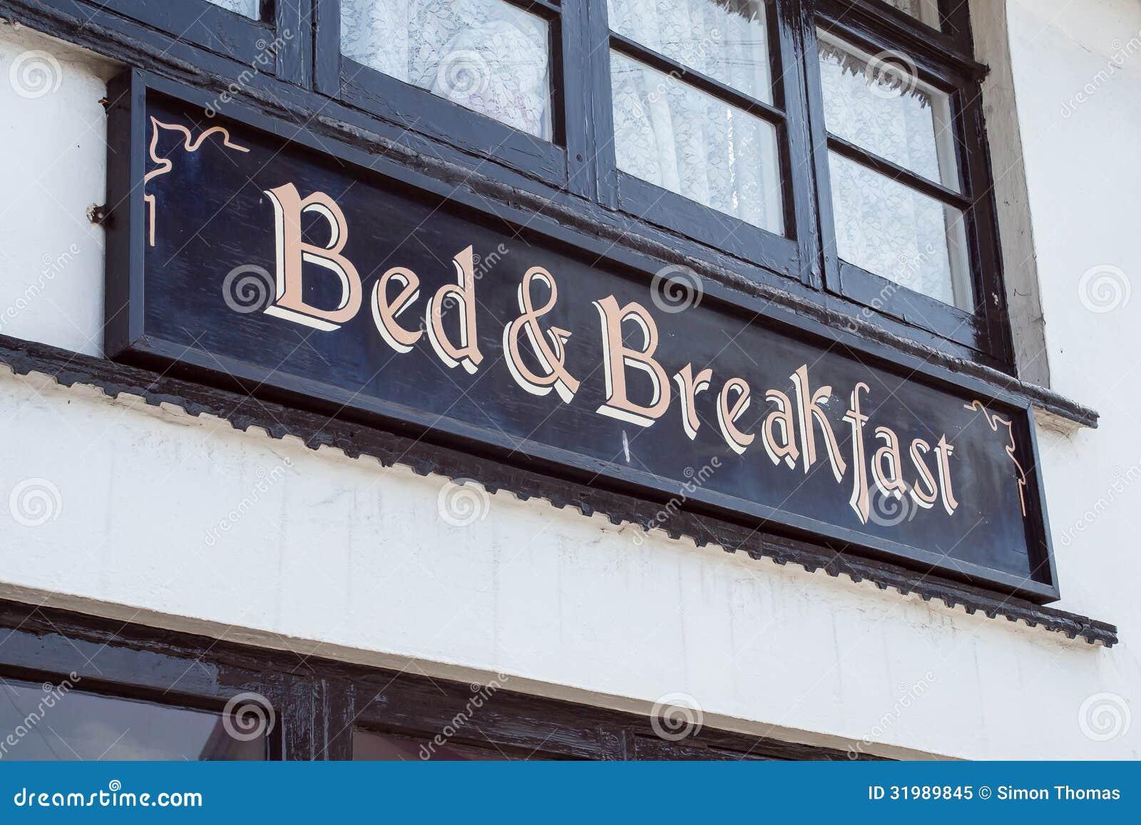 Download Bed & Breakfast stock image. Image of sign, breakfast - 31989845