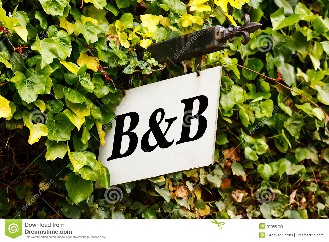 Bed And Breakfast Sign Stock Photos Image 31366753