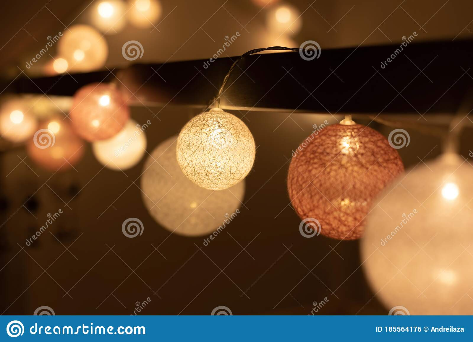 Bed Canopy Decorated With Lights In Montessori Room Stock Photo Image Of Canopy Home 185564176