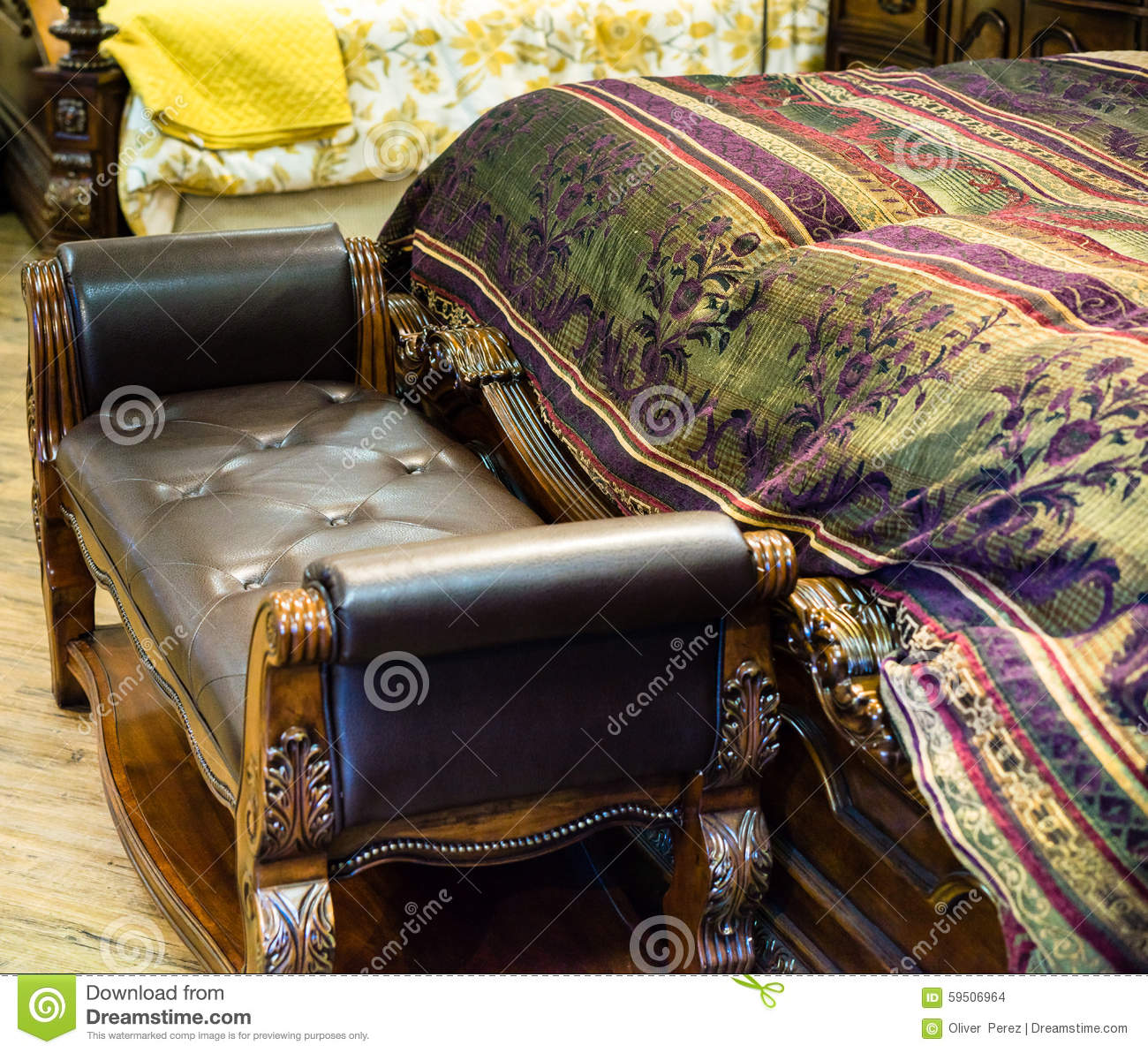 Swell Bed Foot Stool Stock Photo Image Of Furniture Interior Andrewgaddart Wooden Chair Designs For Living Room Andrewgaddartcom